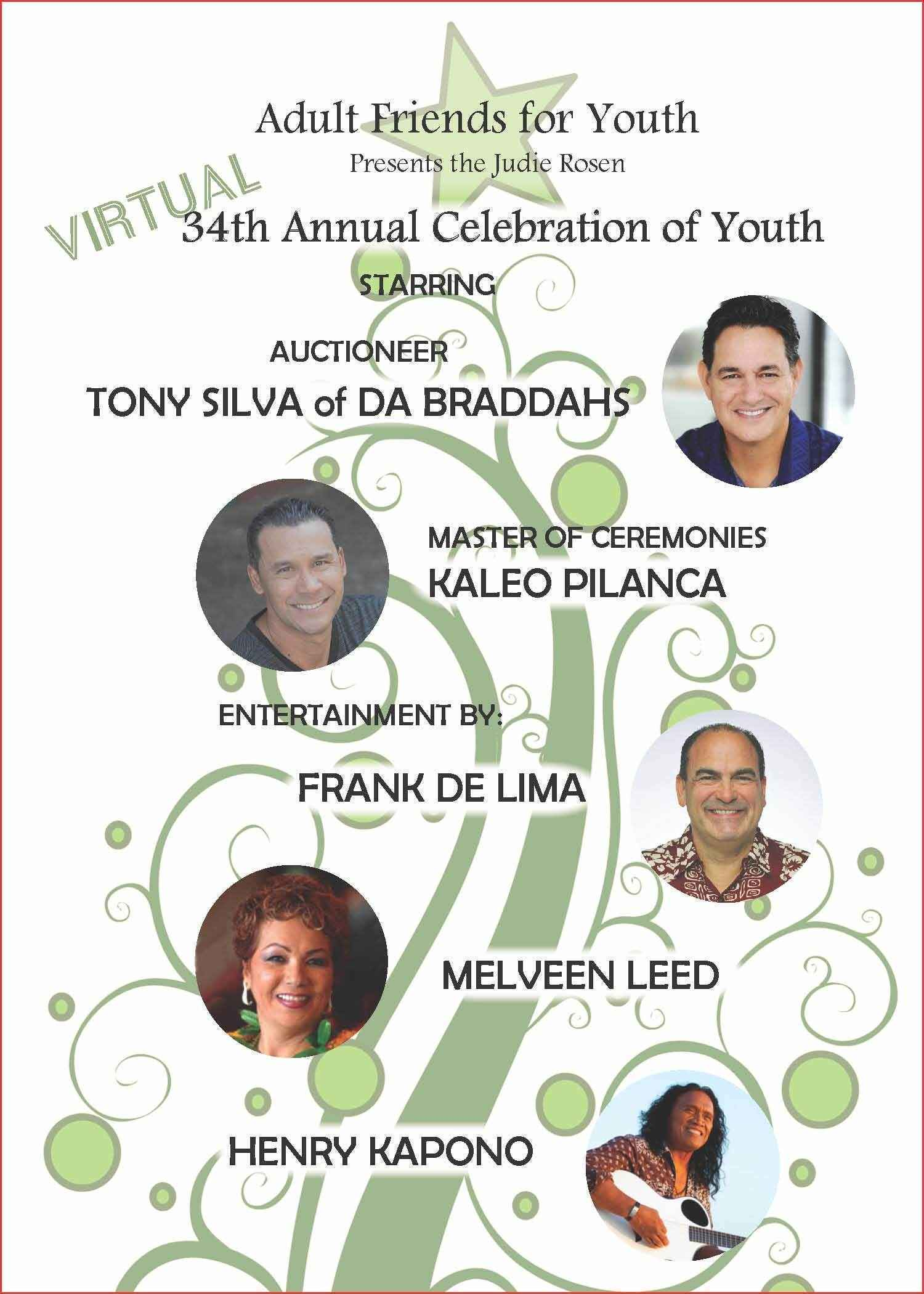 Adult Friends for Youth 34th Celebration of Youth Dinner Auction Fundraiser image