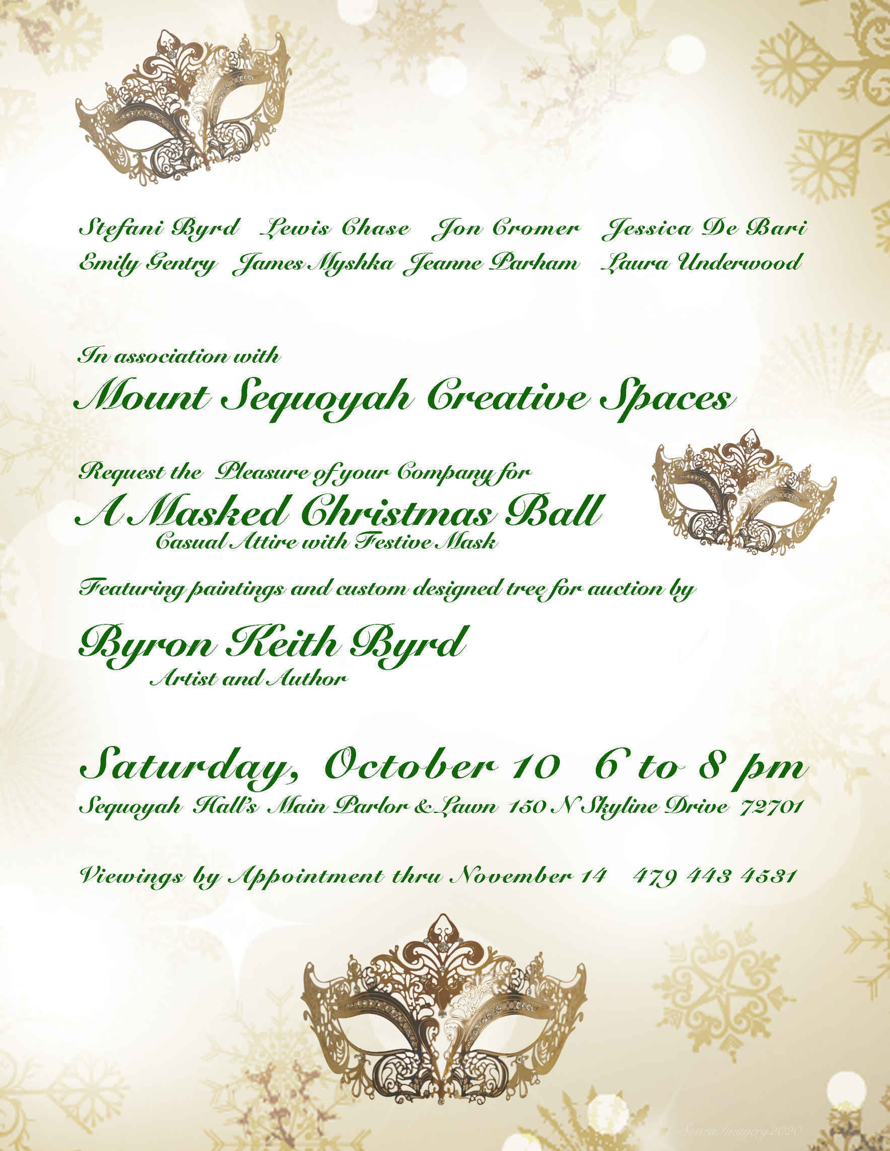 A Masked Christmas Ball - October 10th image