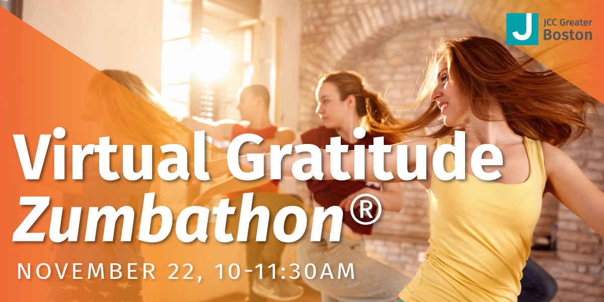 Virtual Gratitude Zumbathon® with JCC Greater Boston image