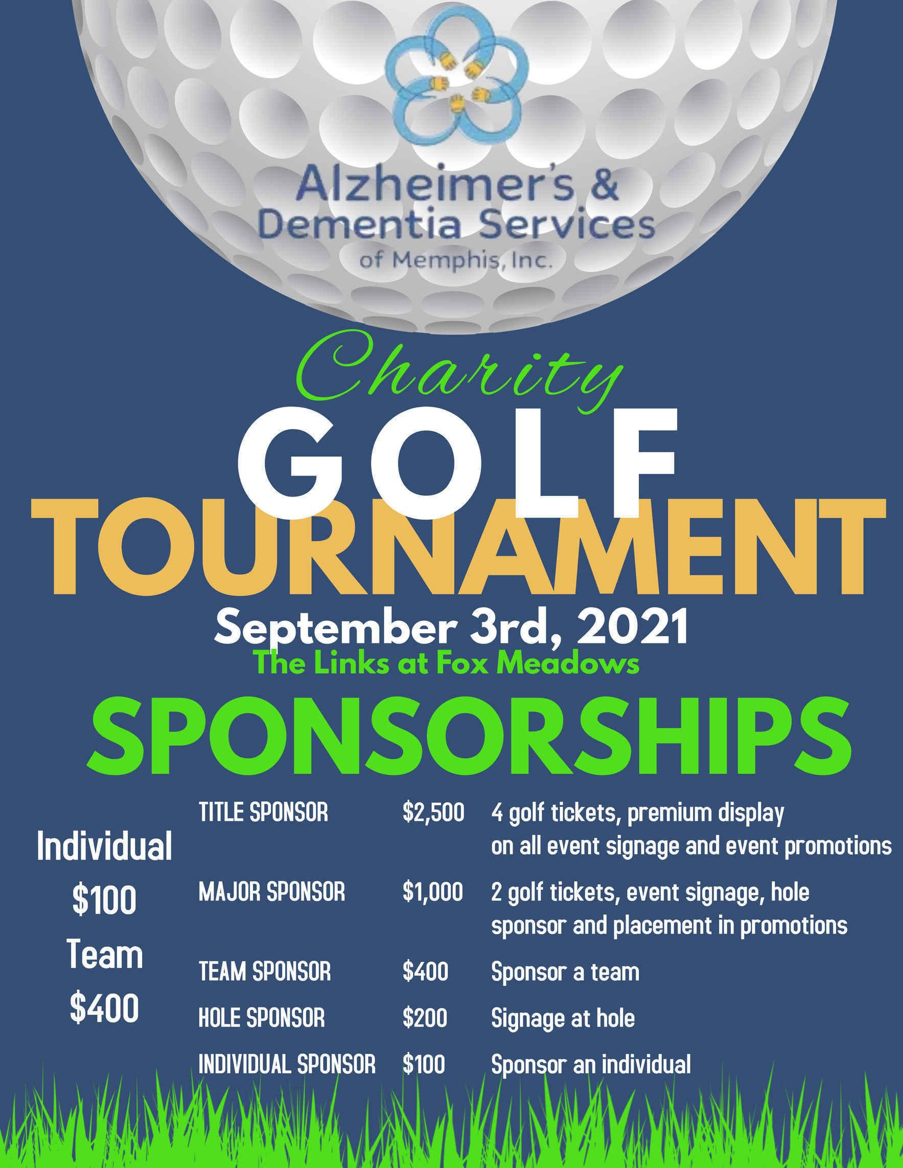 Alzheimer's & Dementia Services of Memphis, Inc. Charity Golf Tournament image