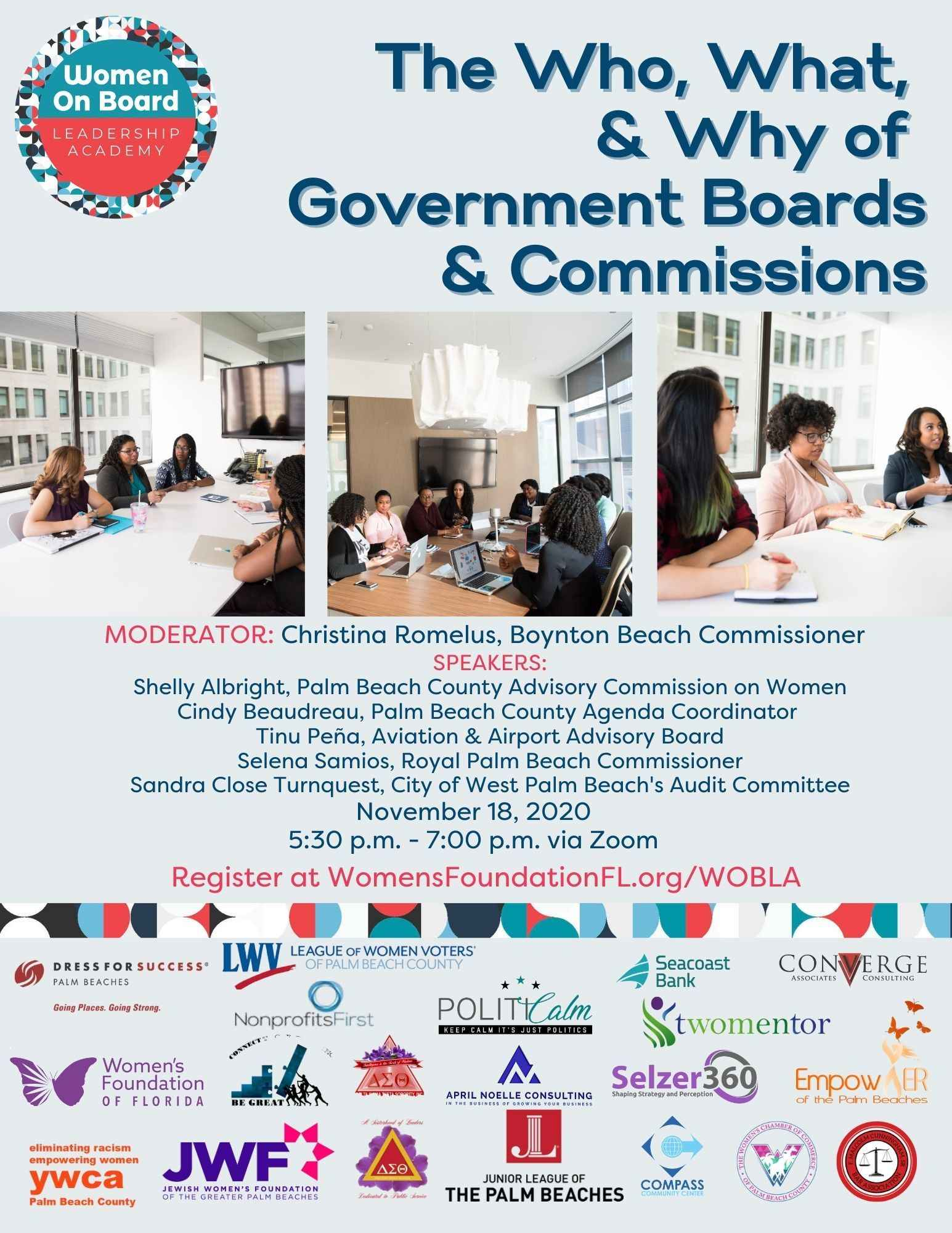 Women on Board Leadership Academy: Government Board Service  image