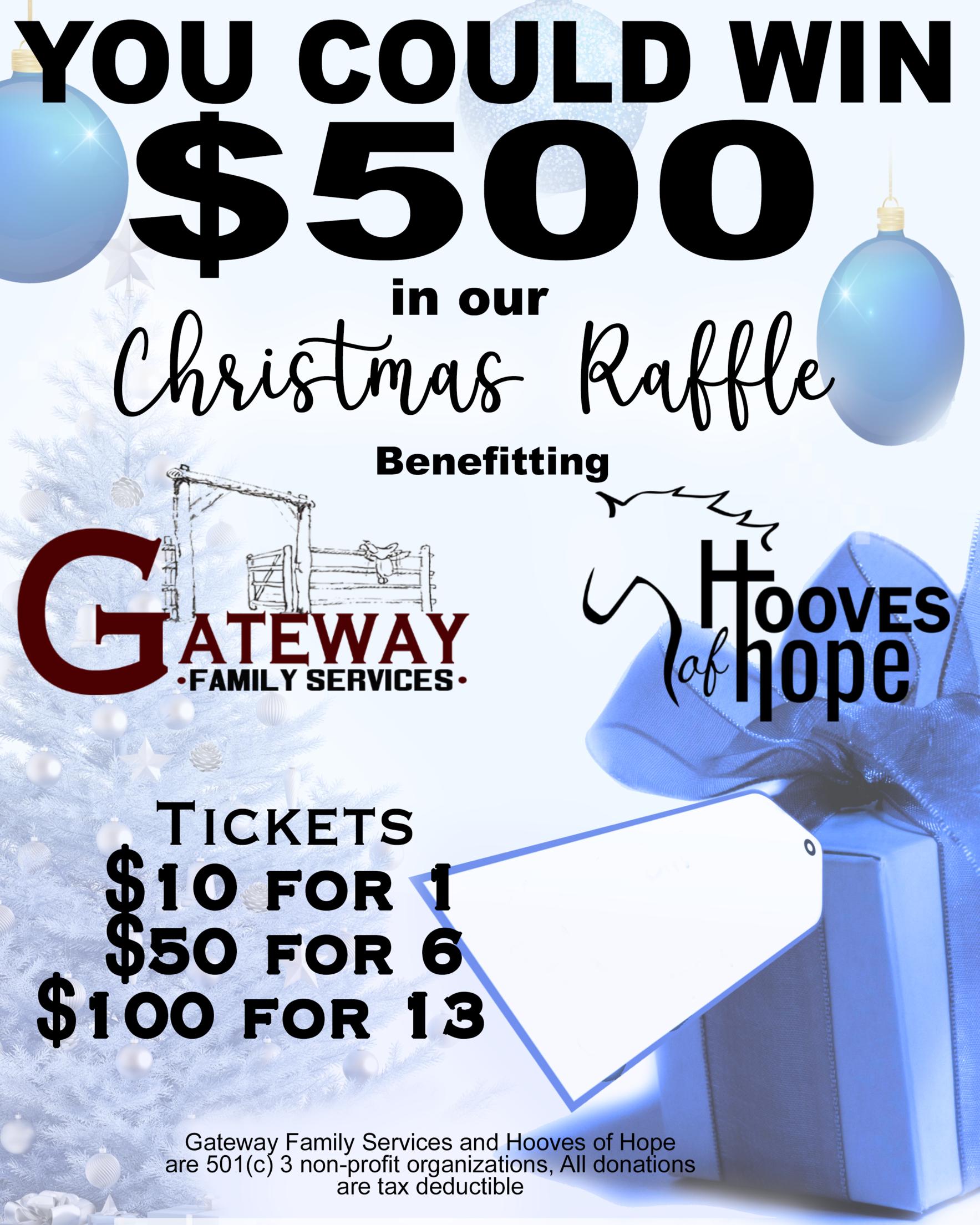 $500 Christmas Raffle image