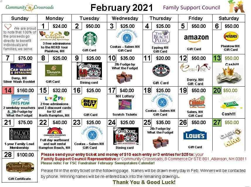 The Family Support Council (FSC) 1st Annual Calendar Fundraiser! image