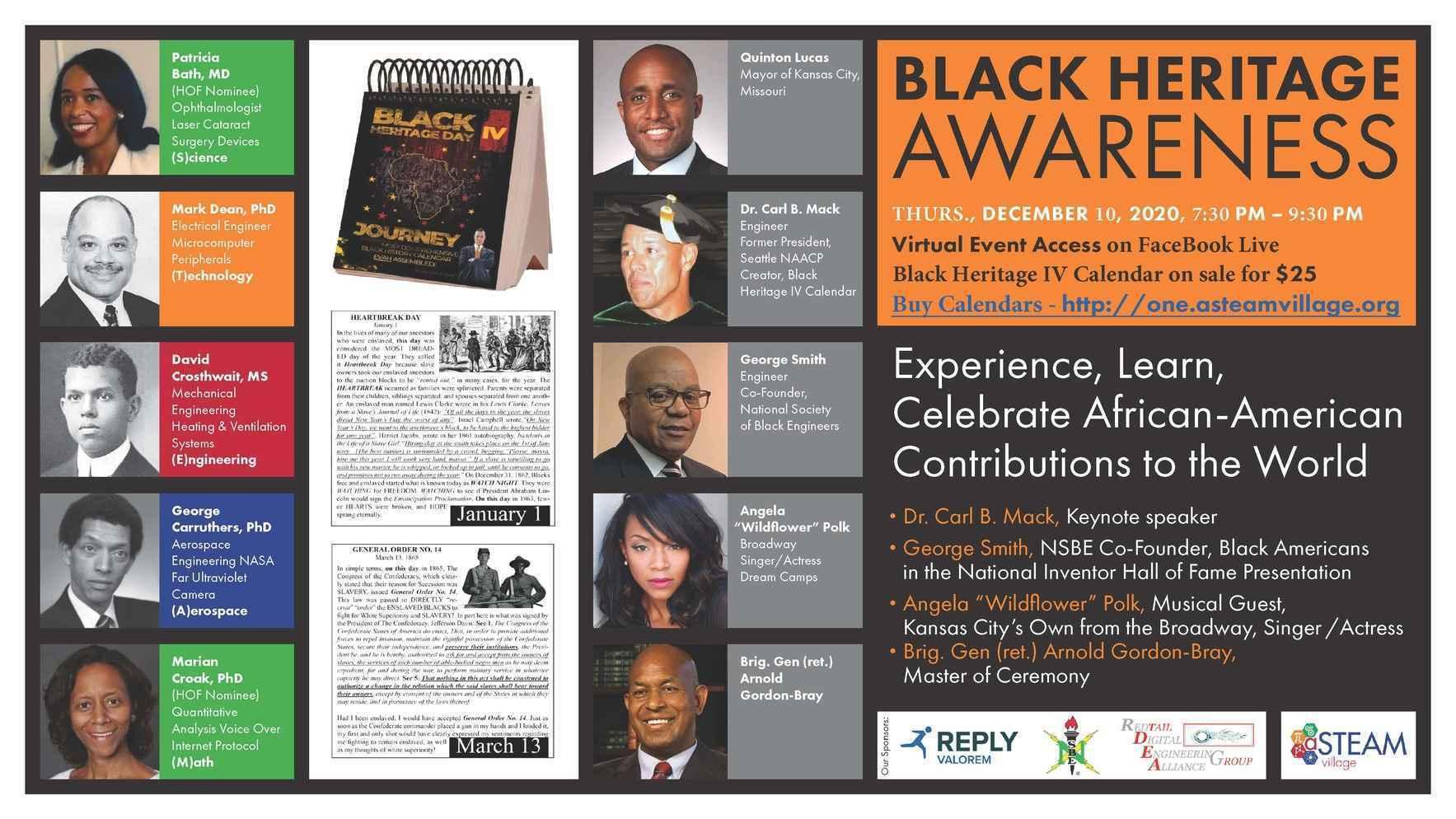 Black Heritage Awareness Calender Fundraiser image