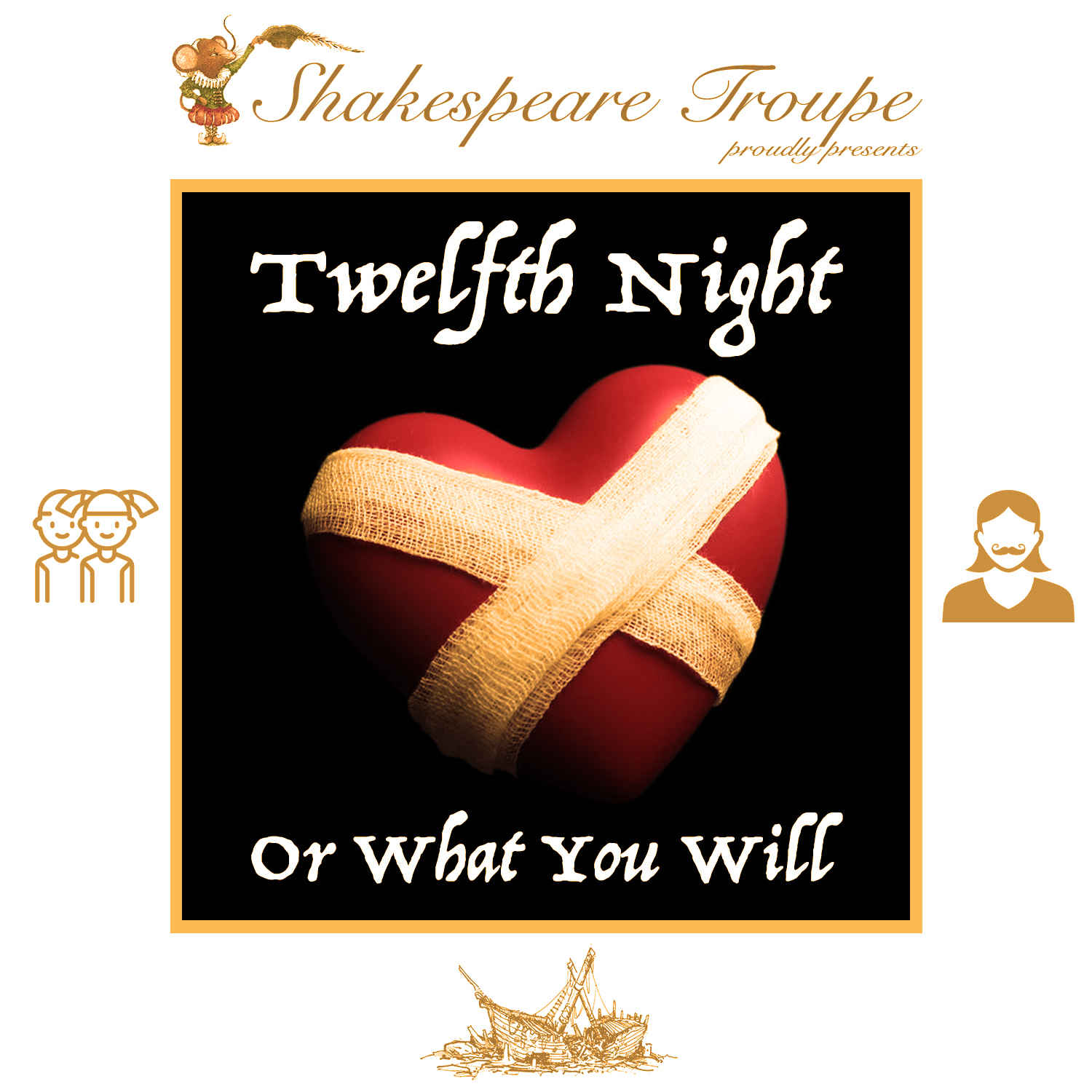 "Shakespeare Troupe Reads ""Twelfth Night"" image"
