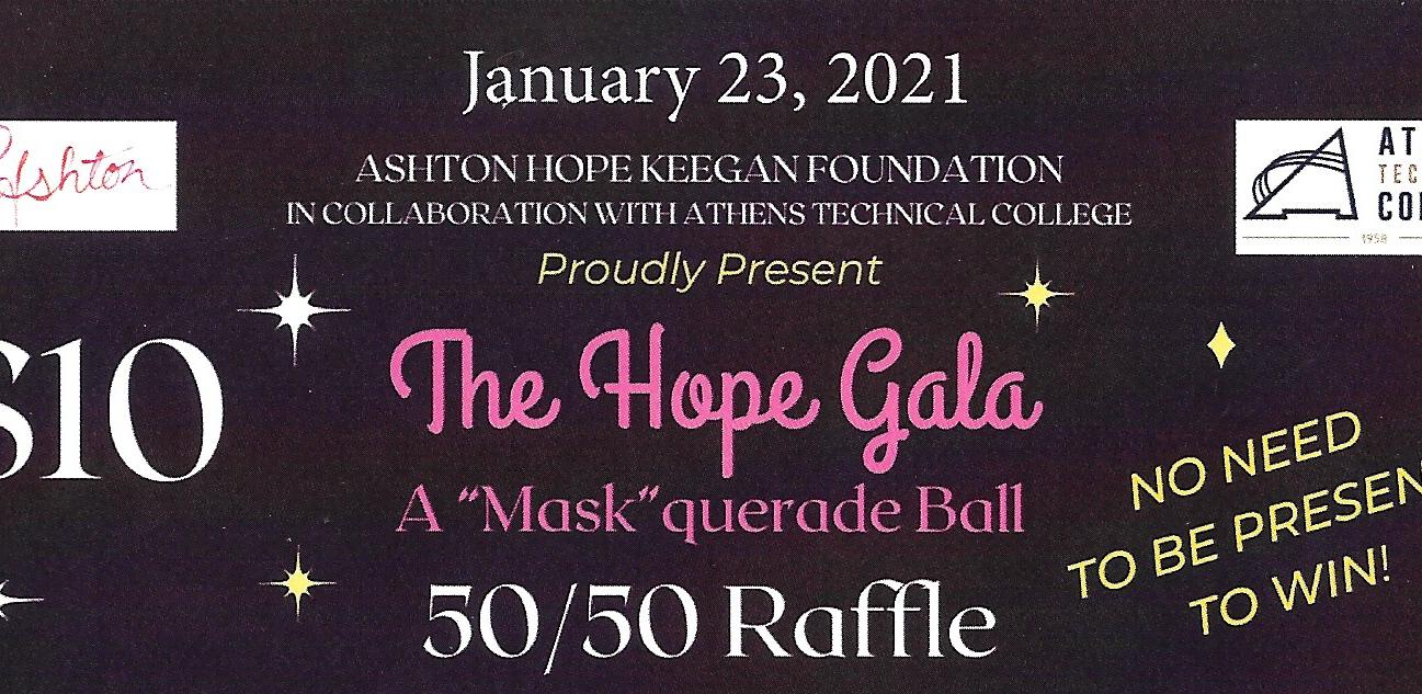 "The Ashton Hope Keegan Foundation ""Mask""querade Ball 50/50 Raffle image"