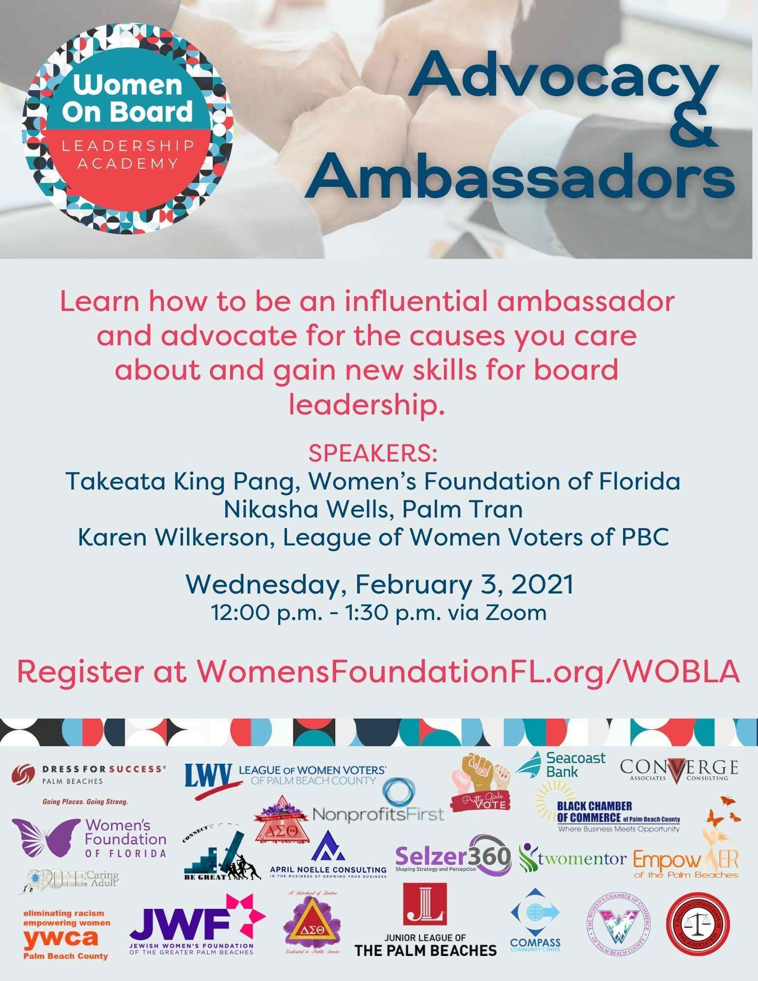 Women on Board Leadership Academy - Advocacy and Ambassadors image
