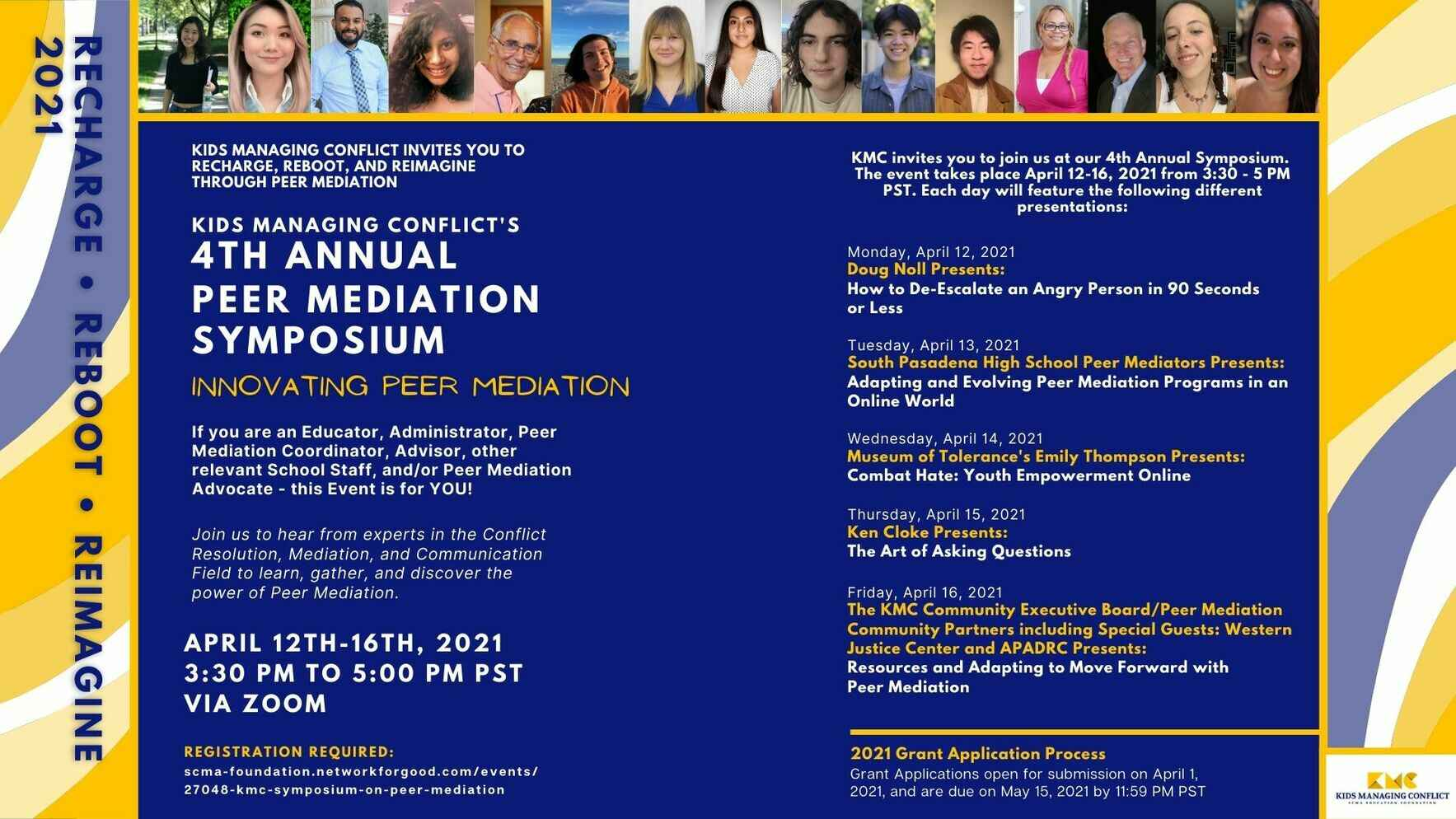 KMC Fourth Annual Symposium: RECHARGE, REBOOT, AND REIMAGINE: Innovating Peer Mediation image