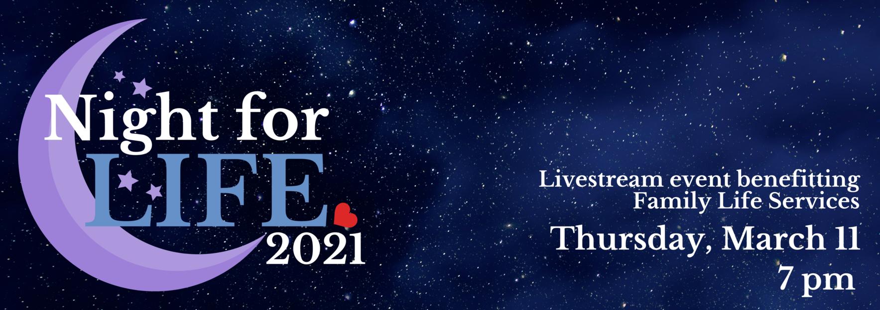 Night for Life Registration image