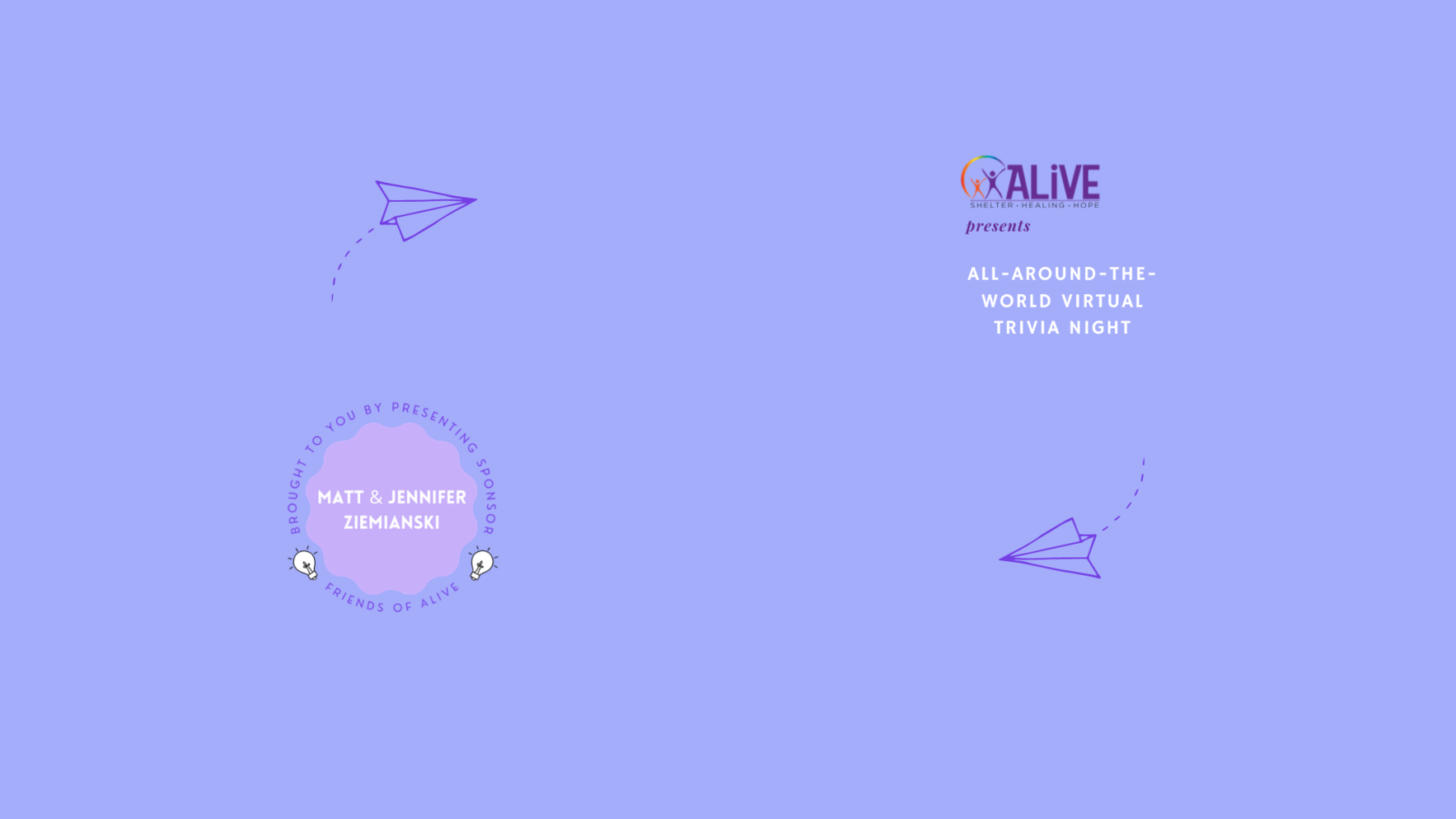 ALIVE's All Around the World Virtual Trivia Night image