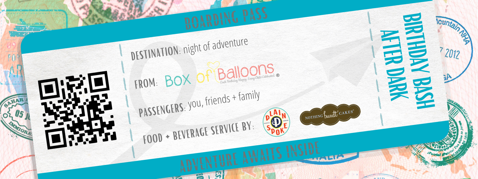 Box of Balloons Birthday Bash After Dark- Party Kit! image