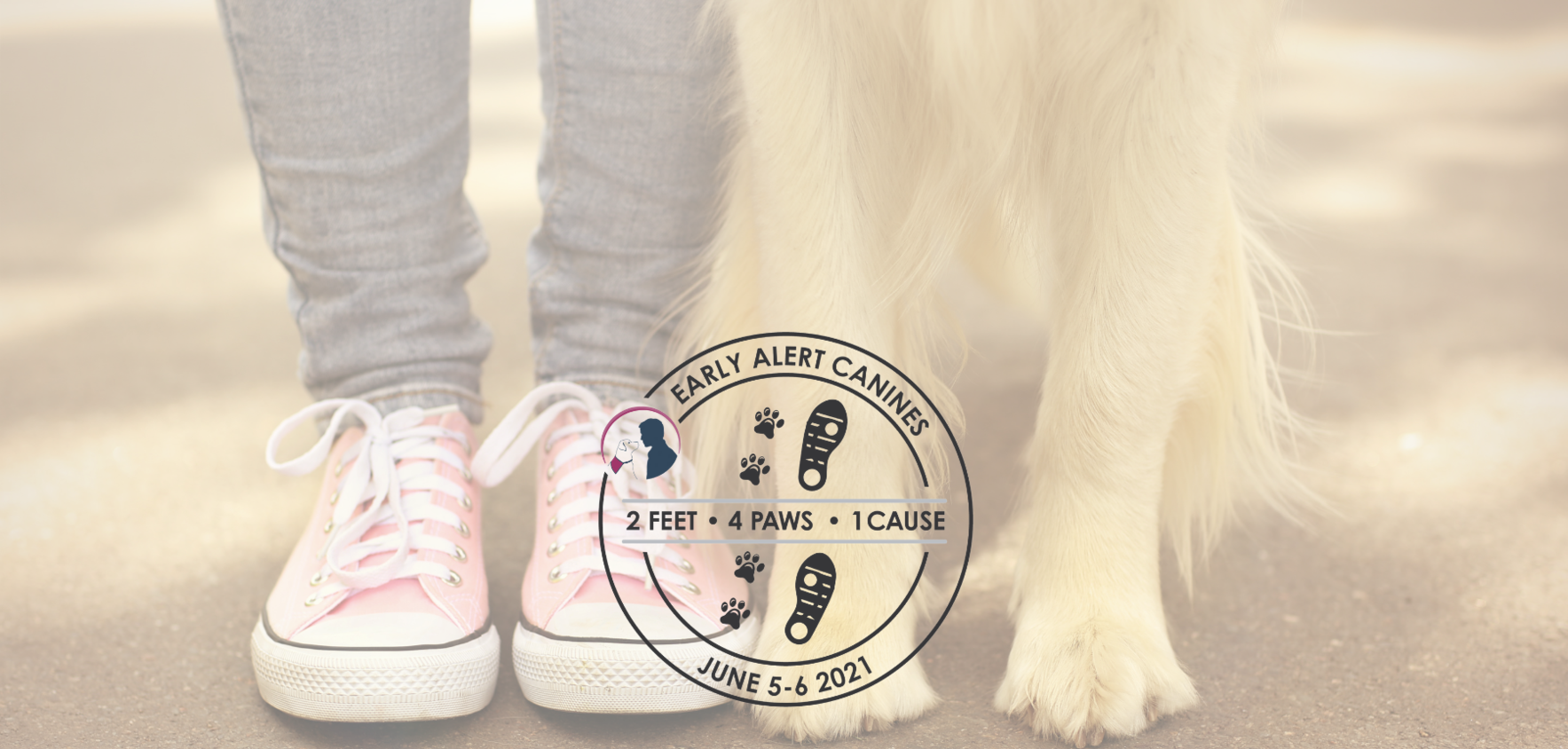 Early Alert Canines 2 Feet ~ 4 Paws ~ 1 Cause Walk 2021  image