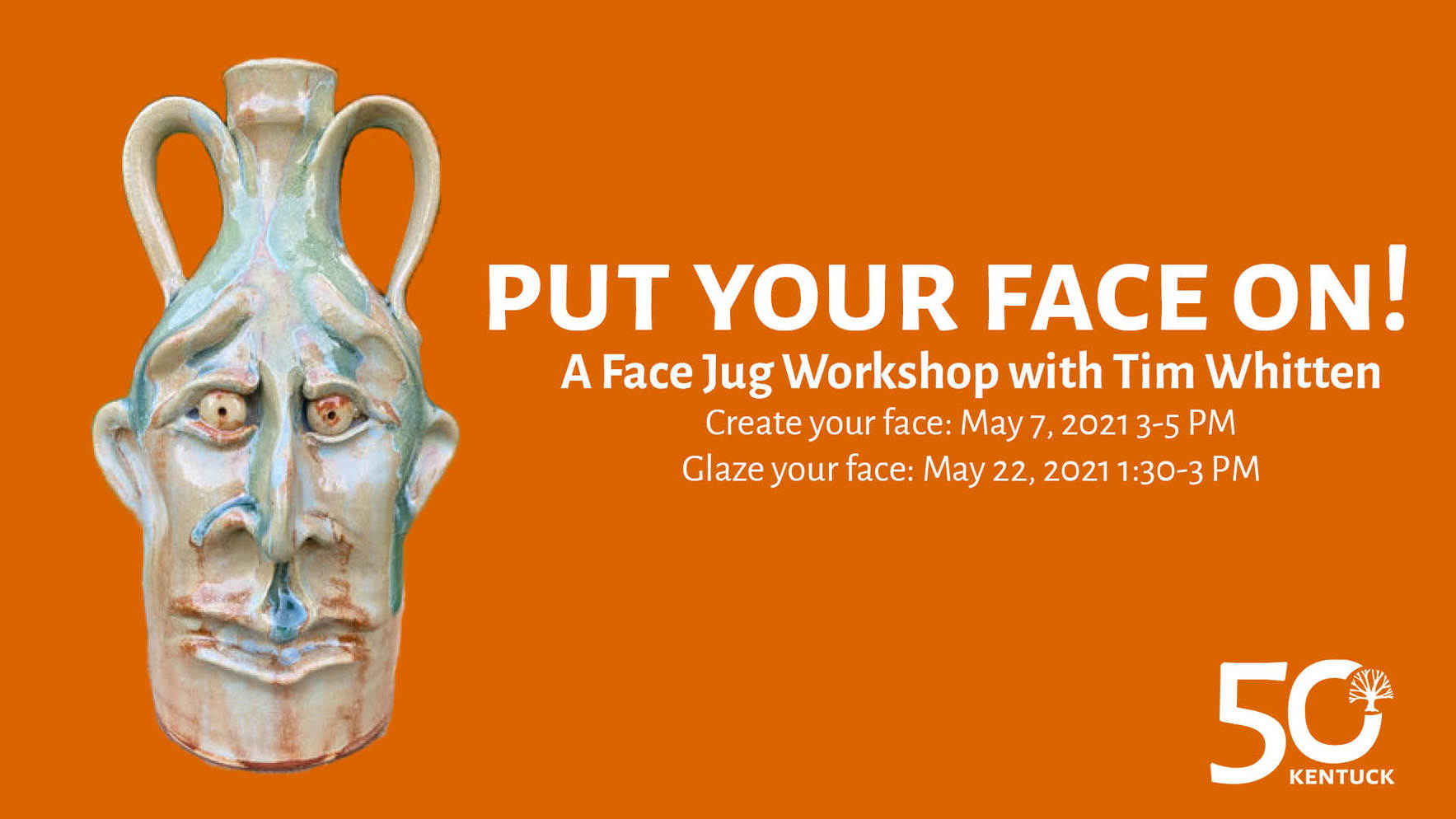 Put Your Face On: A Face Jug Workshop with Tim Whitten image