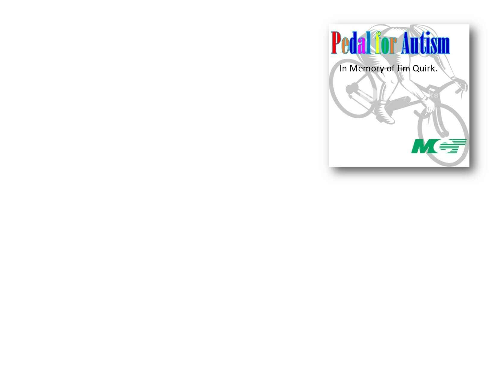 2021 Pedal For Autism Sponsorship image
