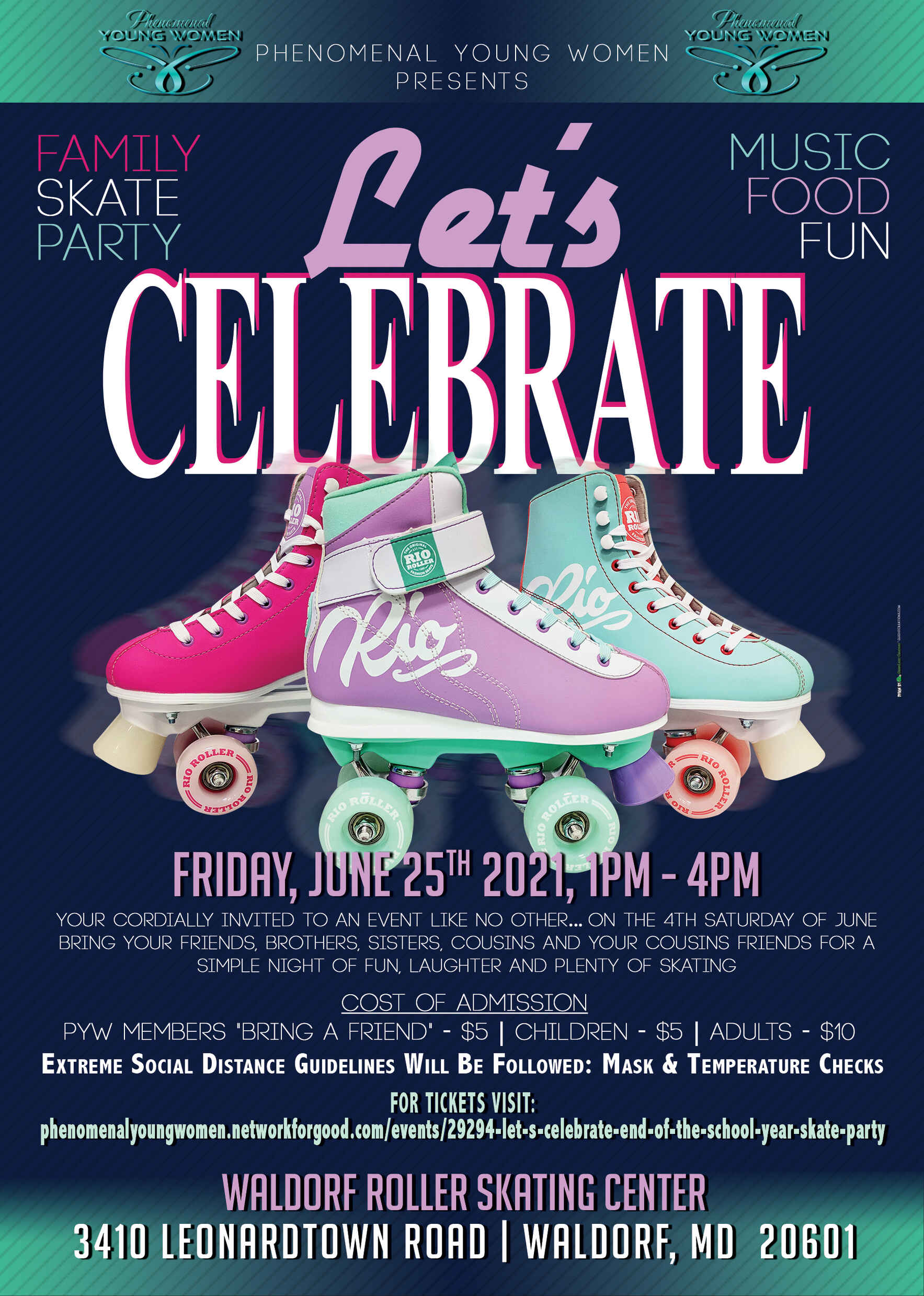 Let's Celebrate End of the School Year Skate Party image
