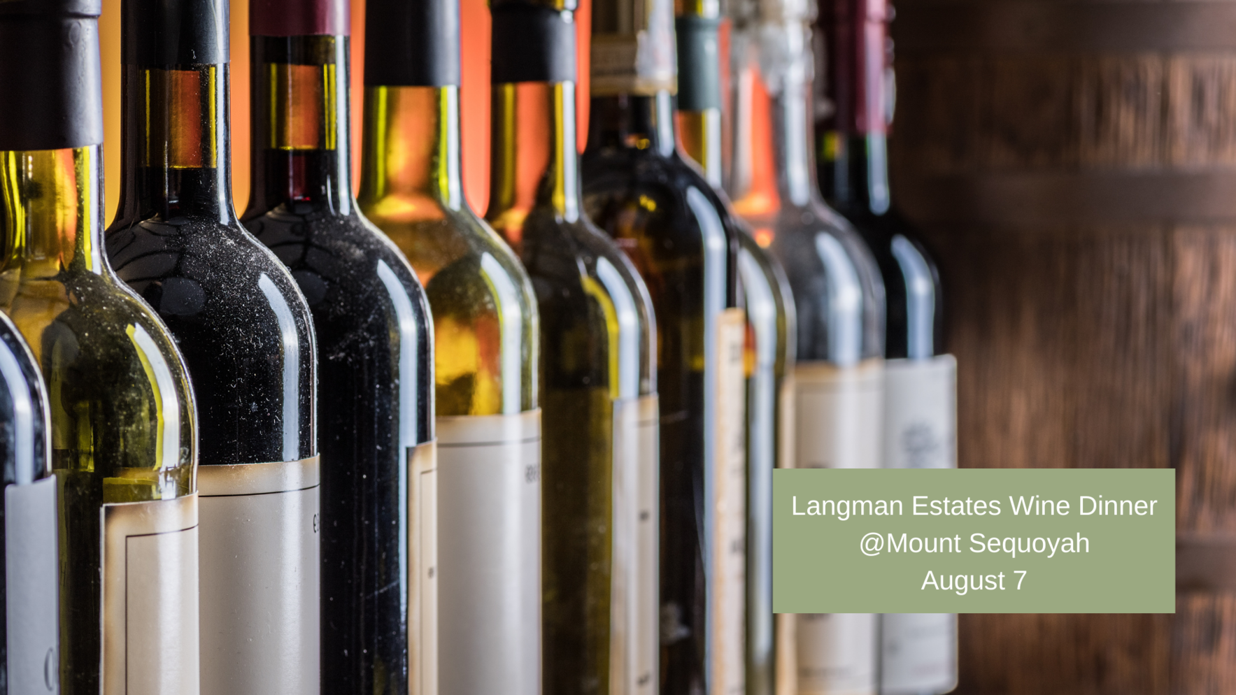Wine Dinner with Langman Estate Winery - August 7 image