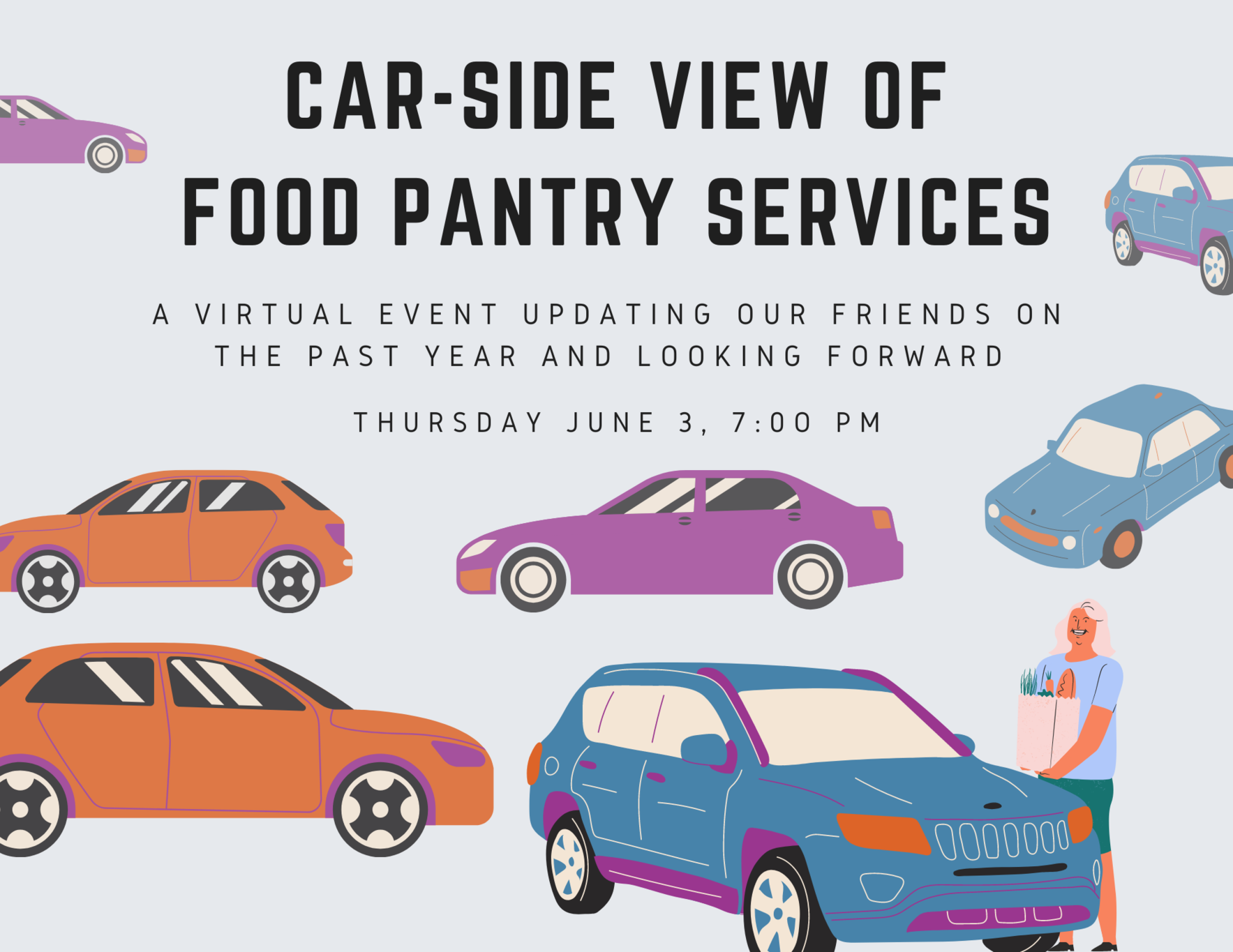 Car-Side View of food pantry Services image