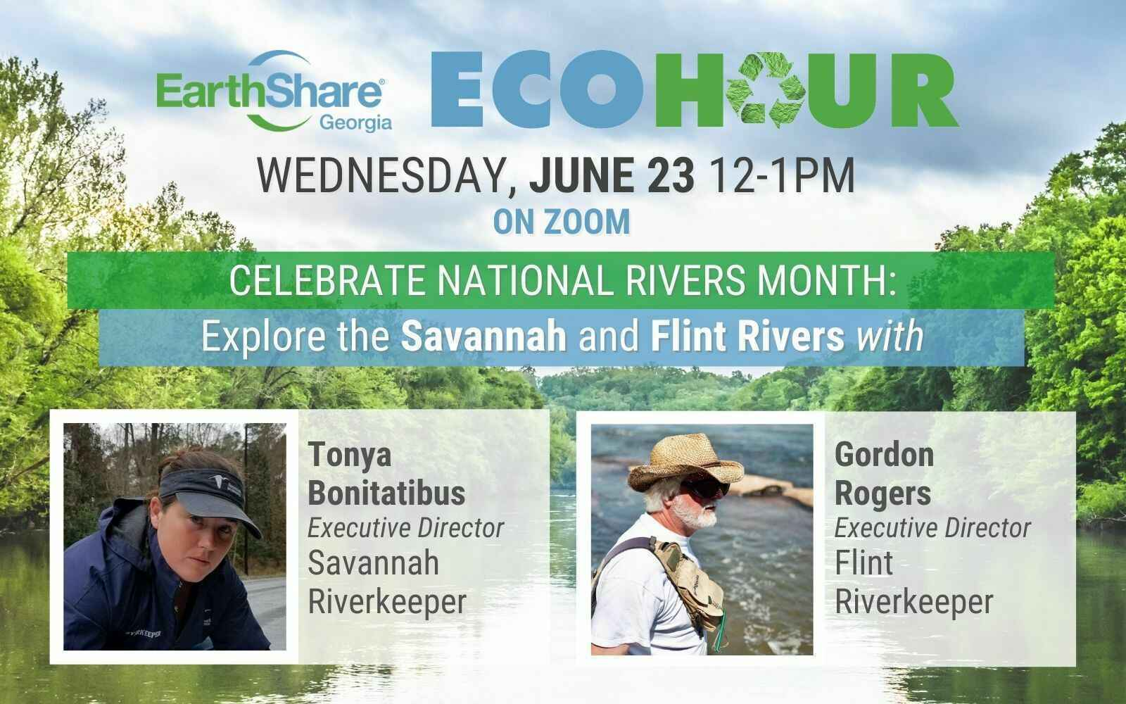 EcoHour: EarthShare Georgia Celebrates National Rivers Month – Explore the Flint and Savannah Rivers!  image
