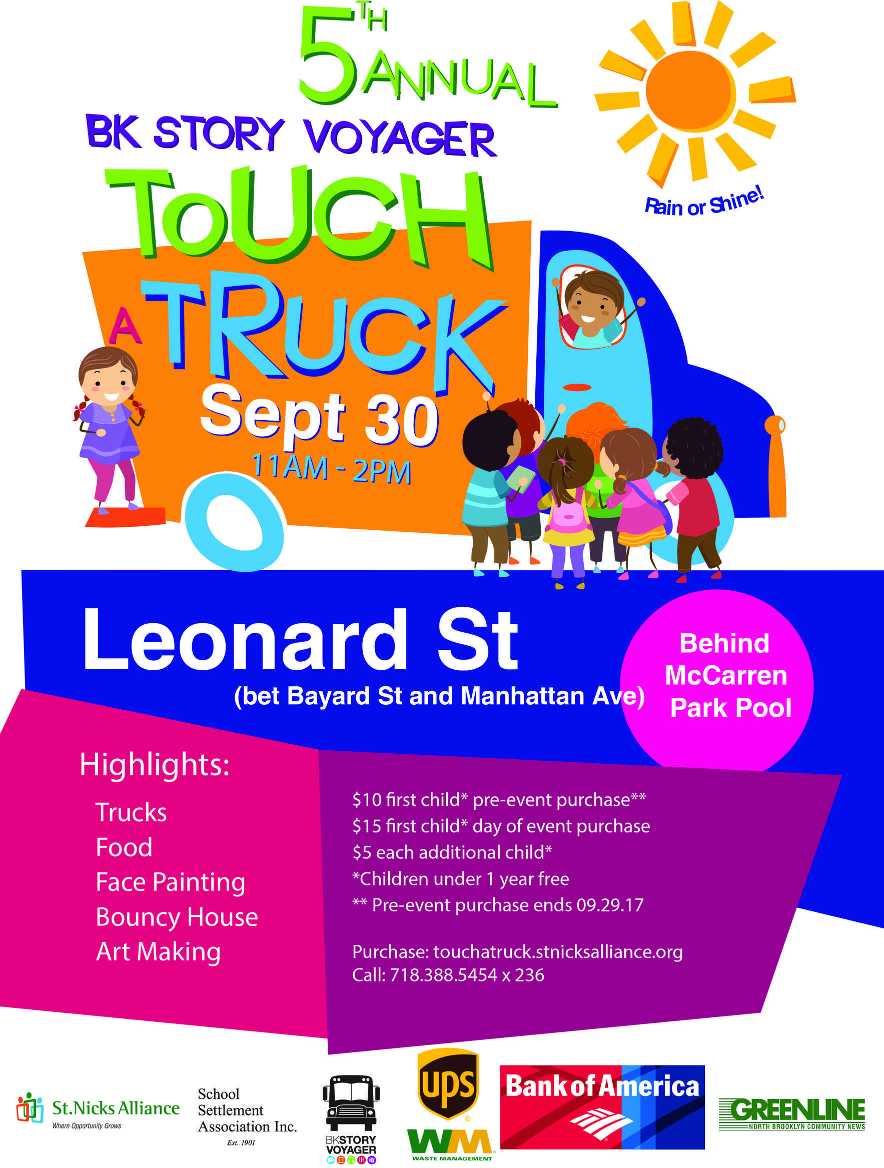 5th Annual BK Story Voyager Touch a Truck! - Save $5 on Tickets Before 9/29! image