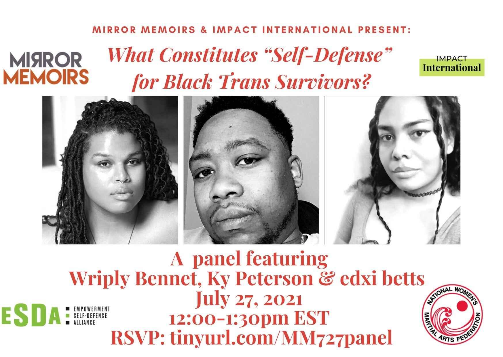 "What Constitutes ""Self-Defense"" for Black Trans Survivors?  image"