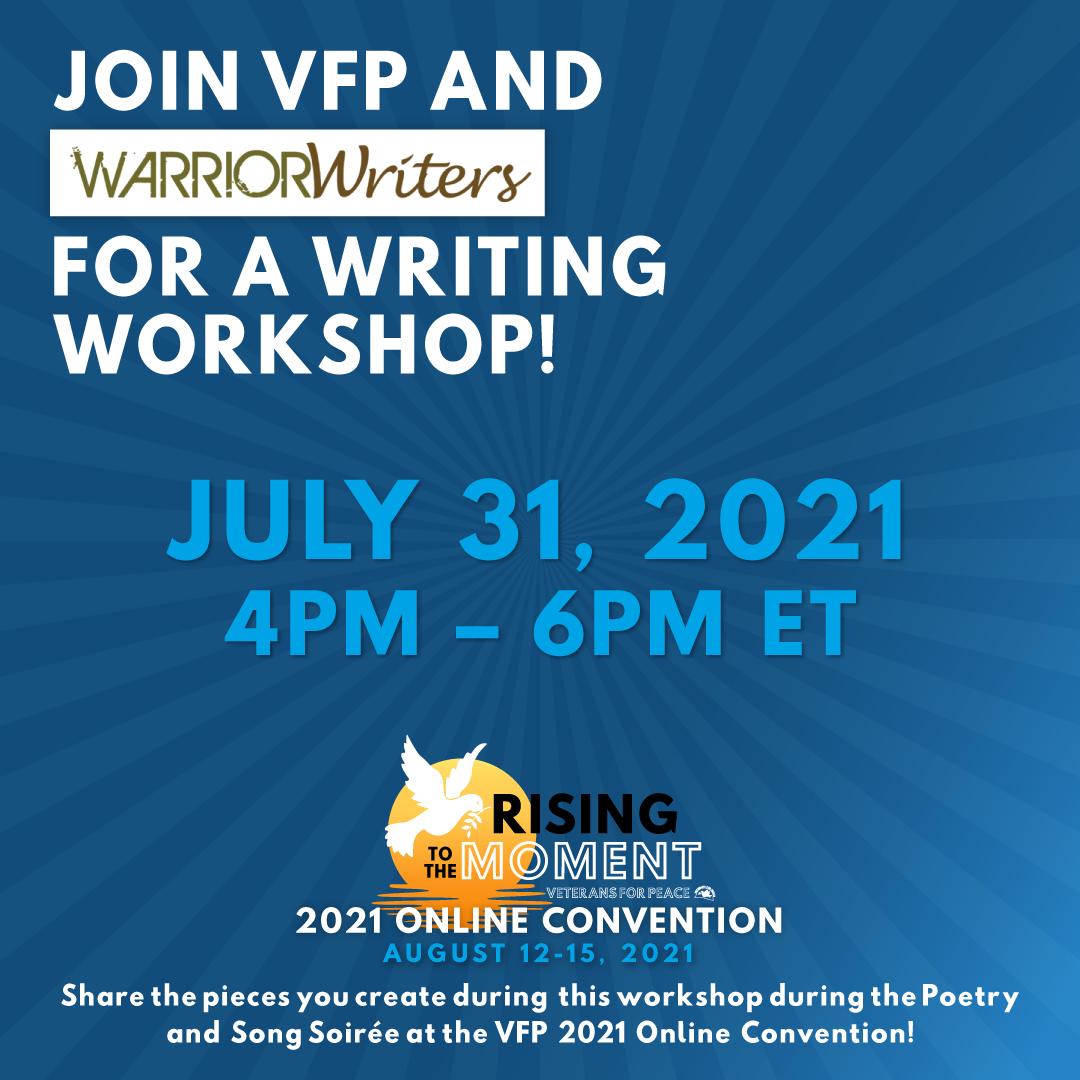 Warrior Writers Writing Workshop image