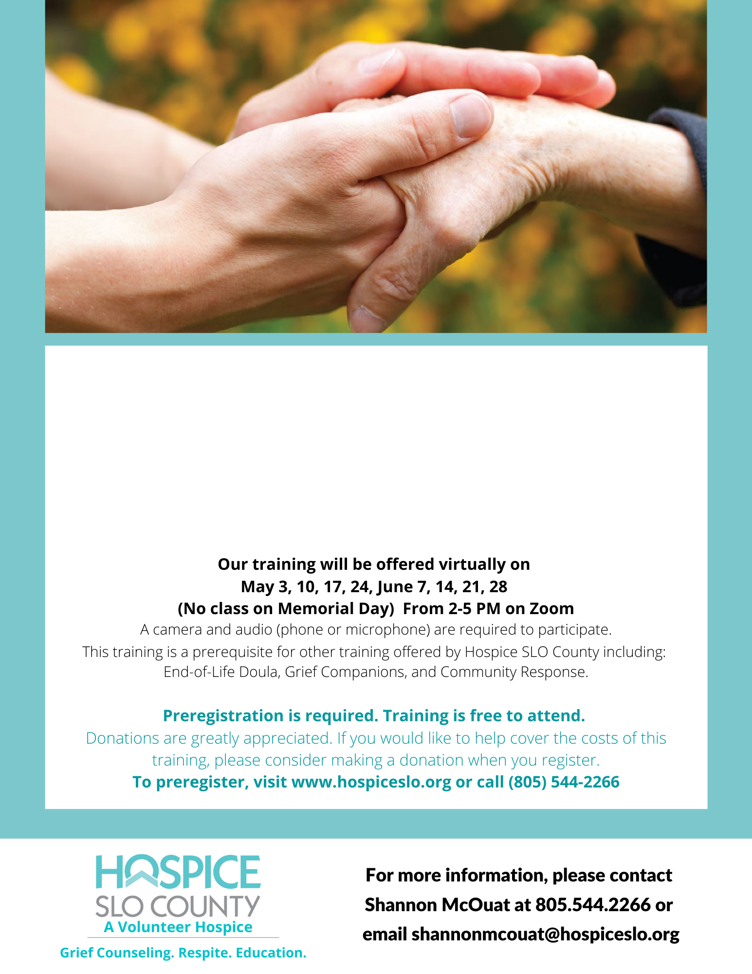 Hospice SLO County In-Home Volunteer Training Sept 2021 image