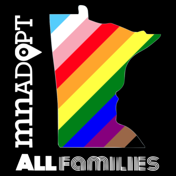 MN ADOPT All Families T-Shirt & Tote image