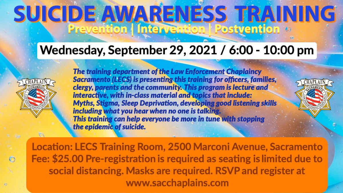 Suicide Awareness Training 9-29-2021 image