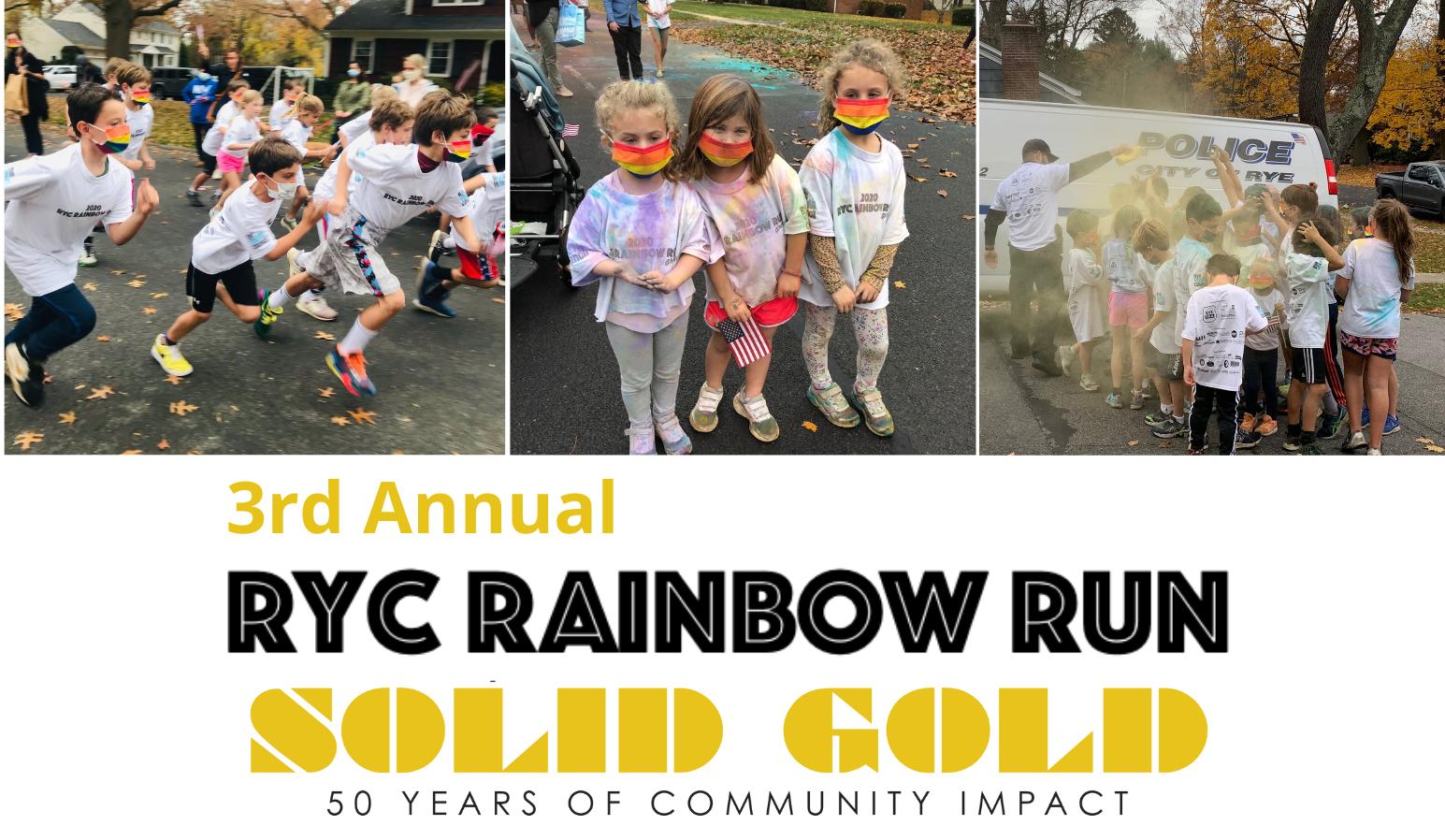 3rd Annual Rye Youth Council Rainbow Fun Run, 11/11/2021 image