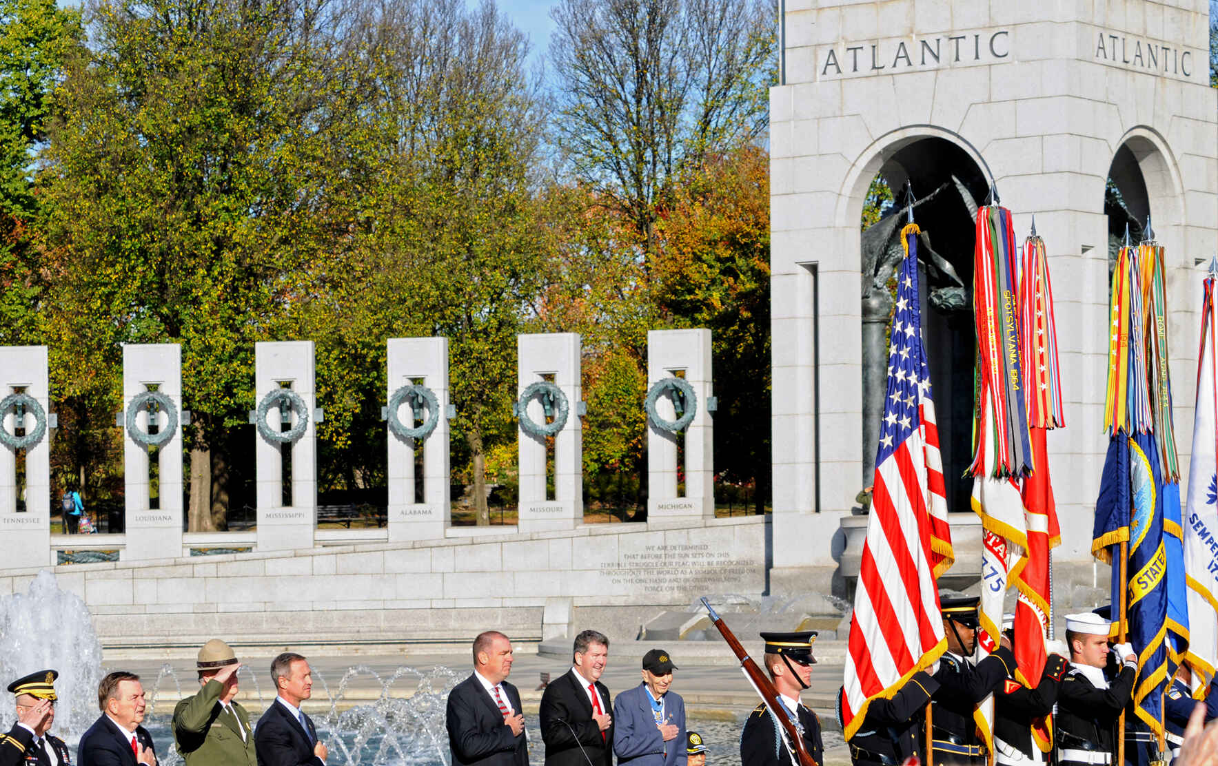 Veterans Day at the WWII Memorial image