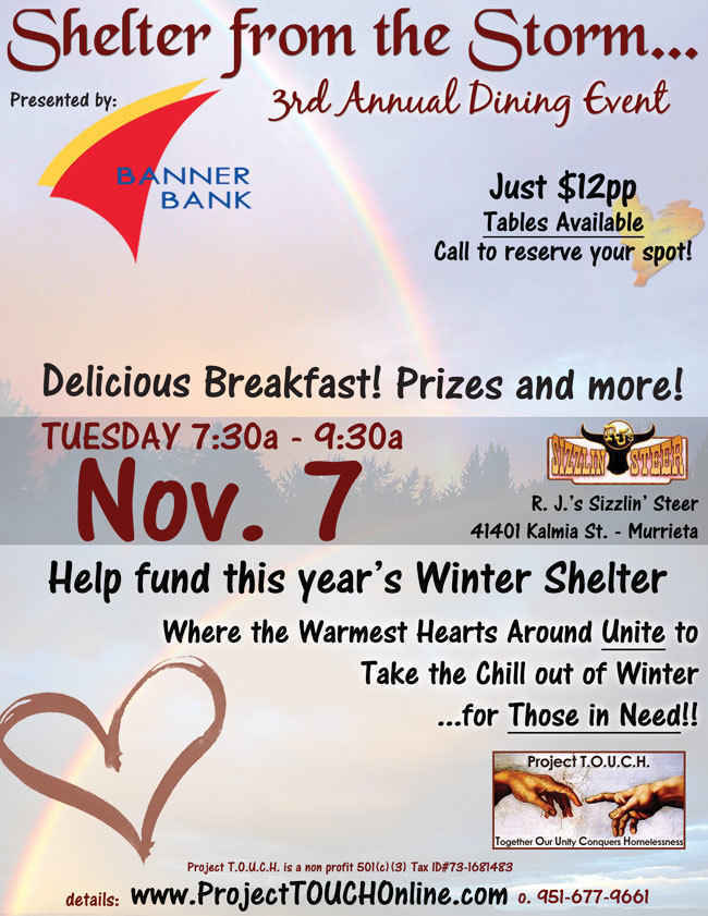 Shelter from the Storm - Breakfast 2017 image