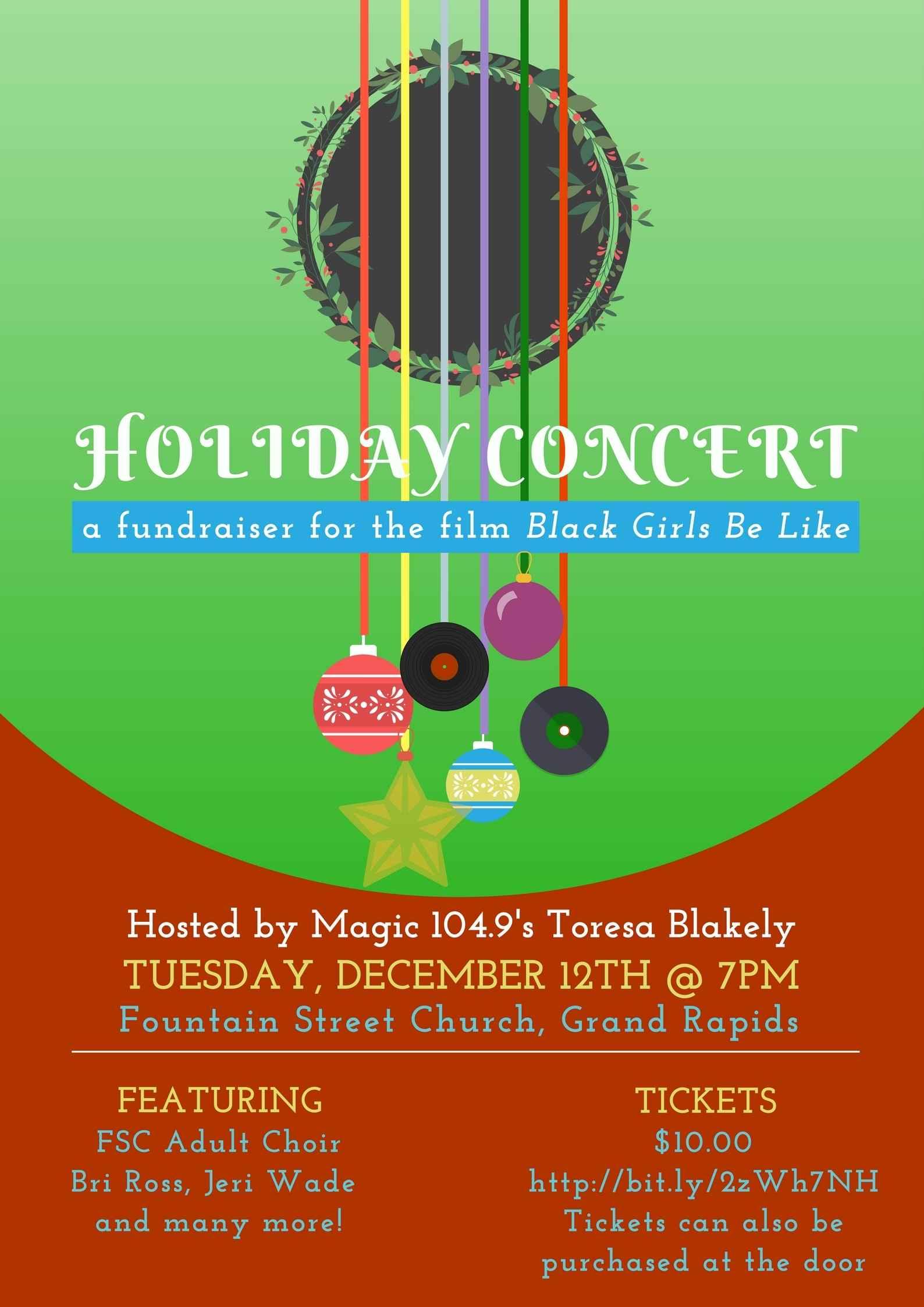 """Black Girls Be Like"" Holiday Concert Fundraiser image"