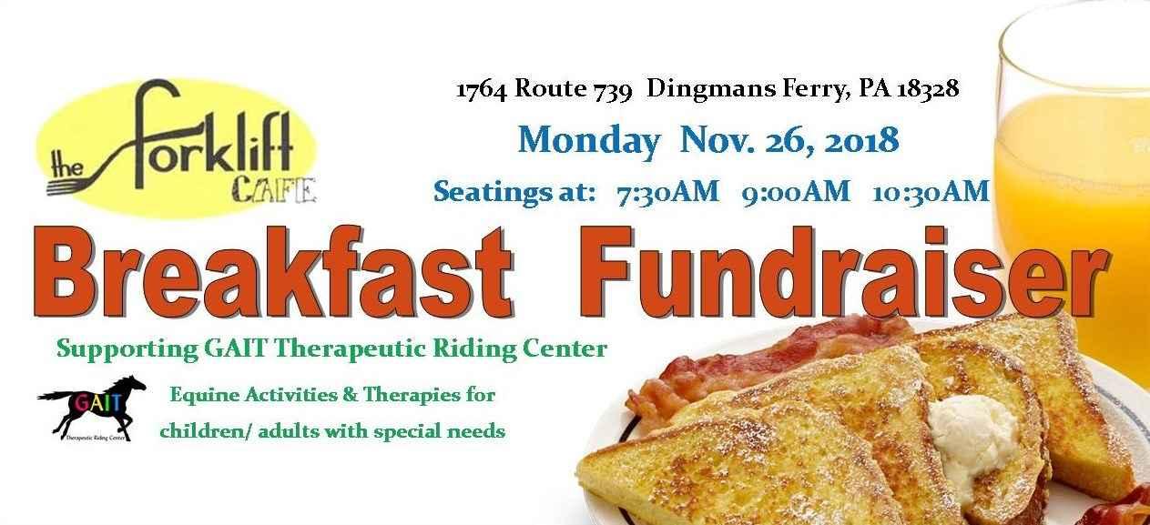 Breakfast Fundraiser at the Forklift Cafe' image