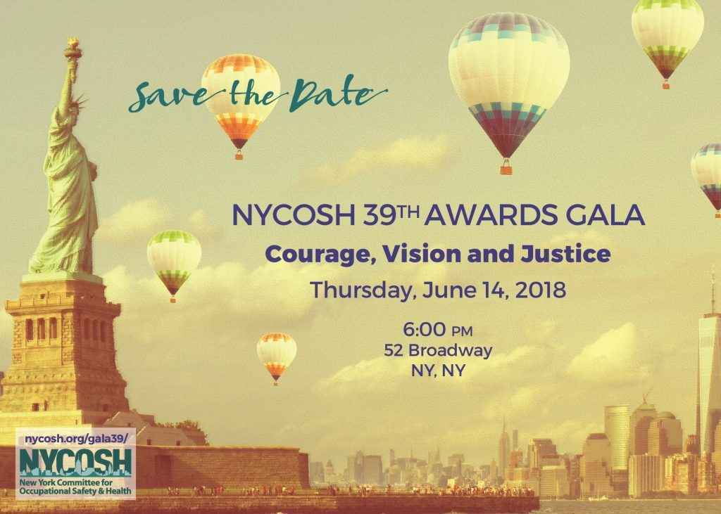 NYCOSH 39th Gala Awards: Courage, Vision and Justice image