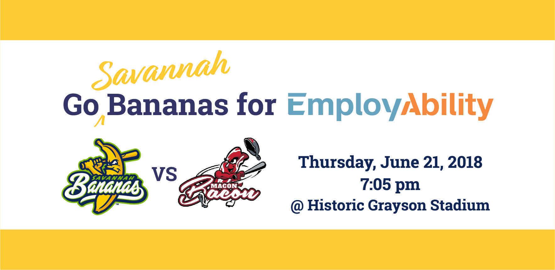 Go (Savannah) Bananas for EmployAbility! image