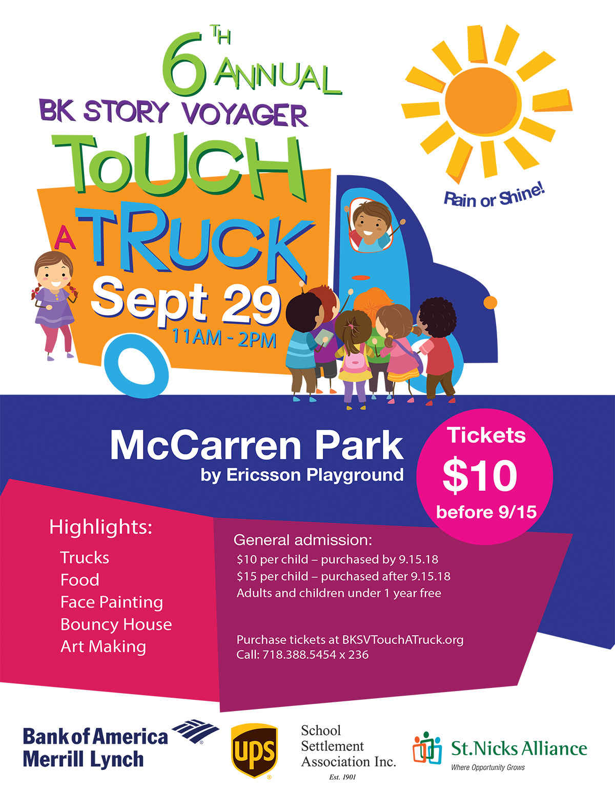 6th Annual BK Story Voyager Touch a Truck! - Save $5 on Tickets has been extended until 9/28! image