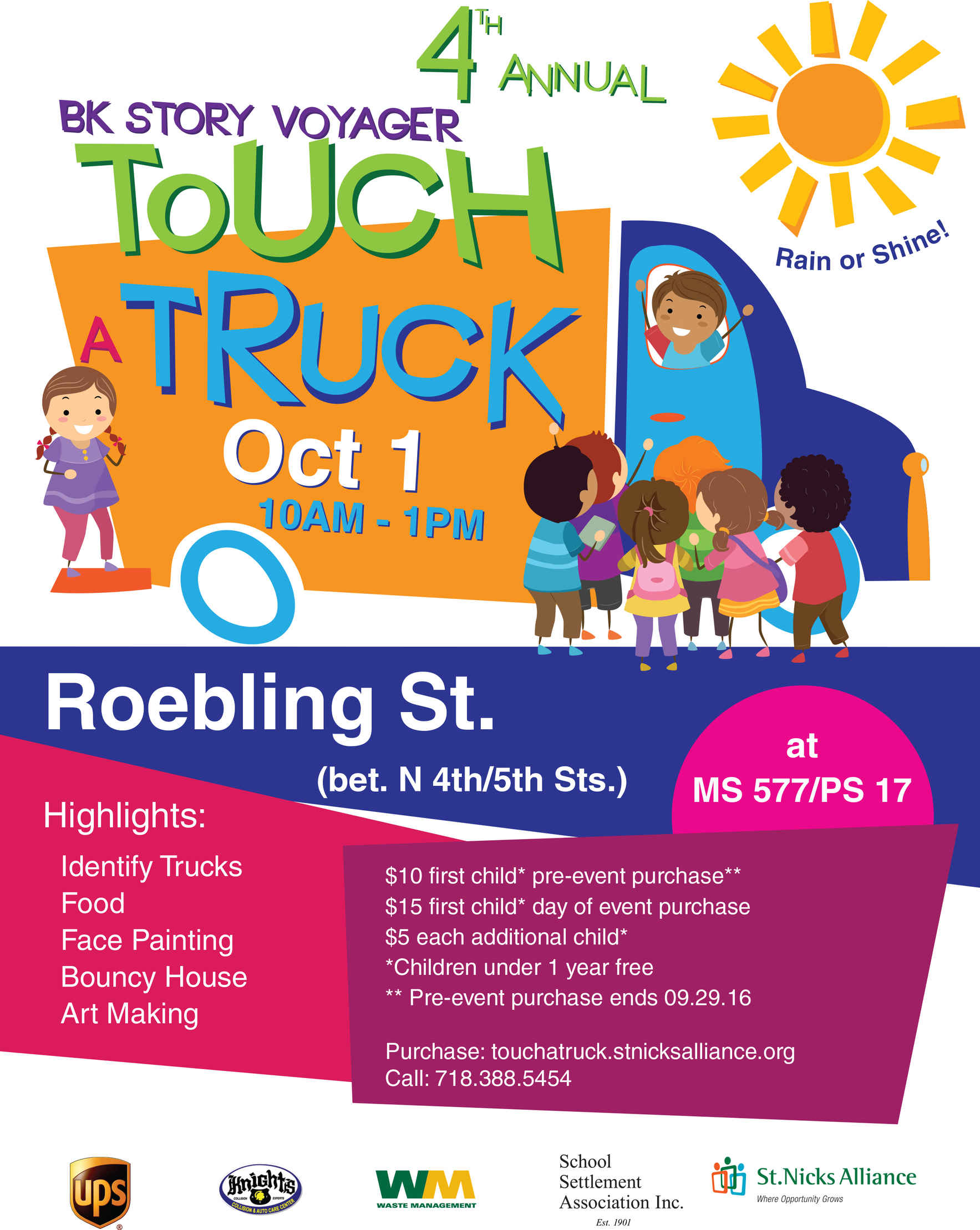 4th Annual BK Story Voyager Touch A Truck - Pre-event sale Save $5 Until September 29th! image
