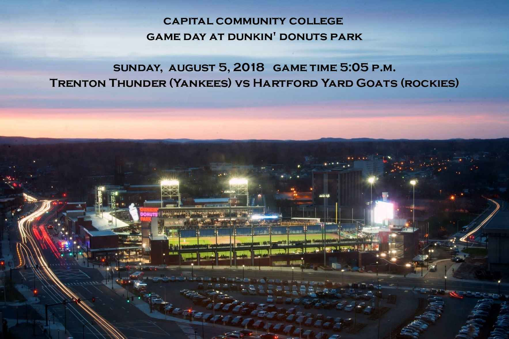 College Game Day @ Dunkin' Donuts Park image