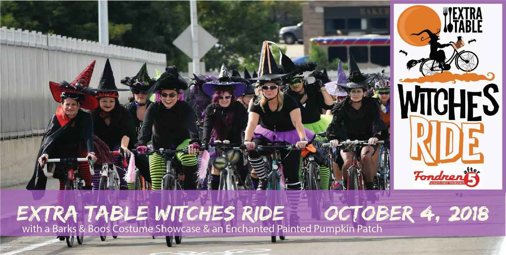Extra Table Witches Ride......the movie Hocus Pocus, Pets & Pumpkins, too! image