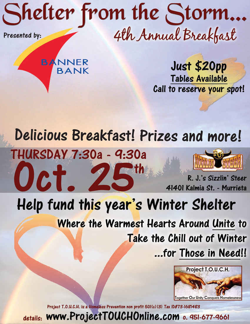 Shelter From the Storm BREAKFAST 2018 image