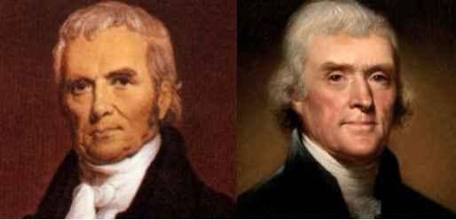 Debate: Chief Justice John Marshall & President Thomas Jefferson image