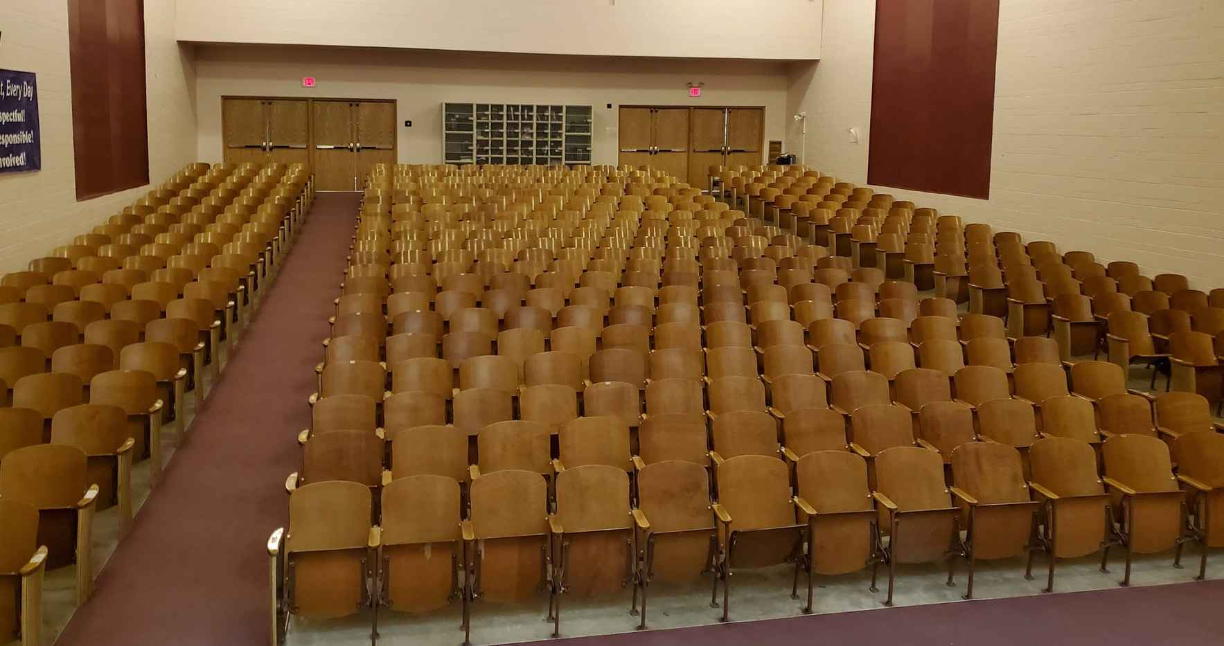 Scroll down for all donor options.   Revitalize the Fred Moodry Intermediate School Auditorium! image