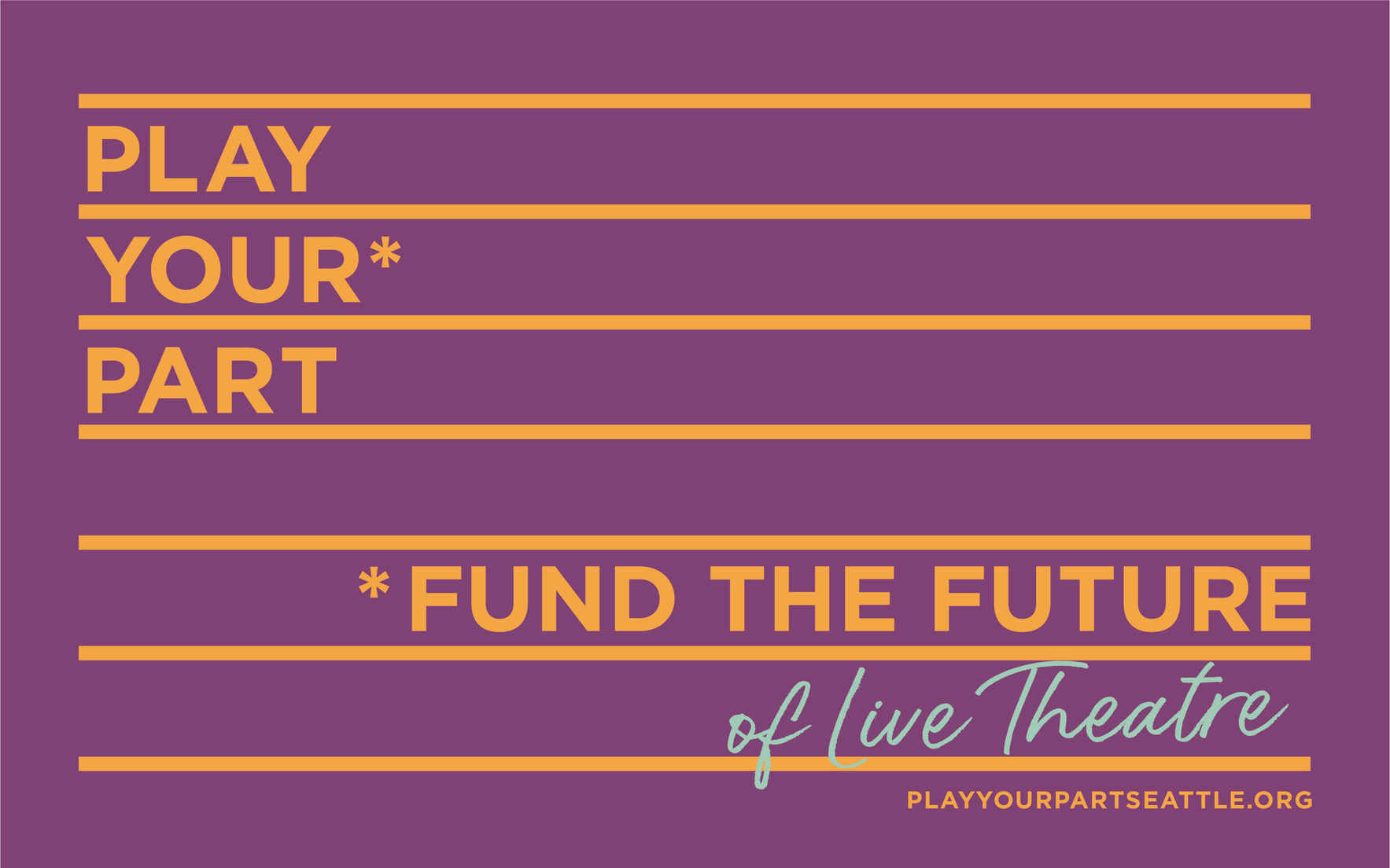 Fund the Future of LIVE theatre! image