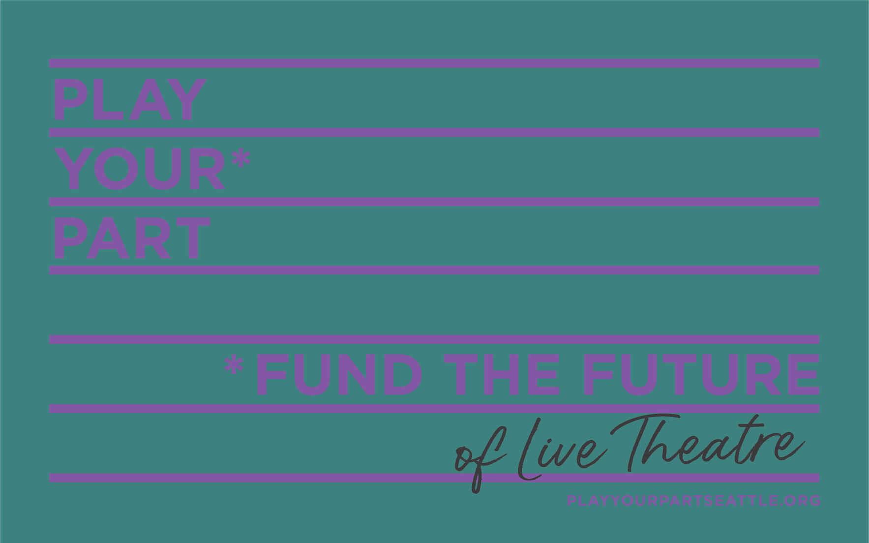 Fund the Future of LIVE theatre! image