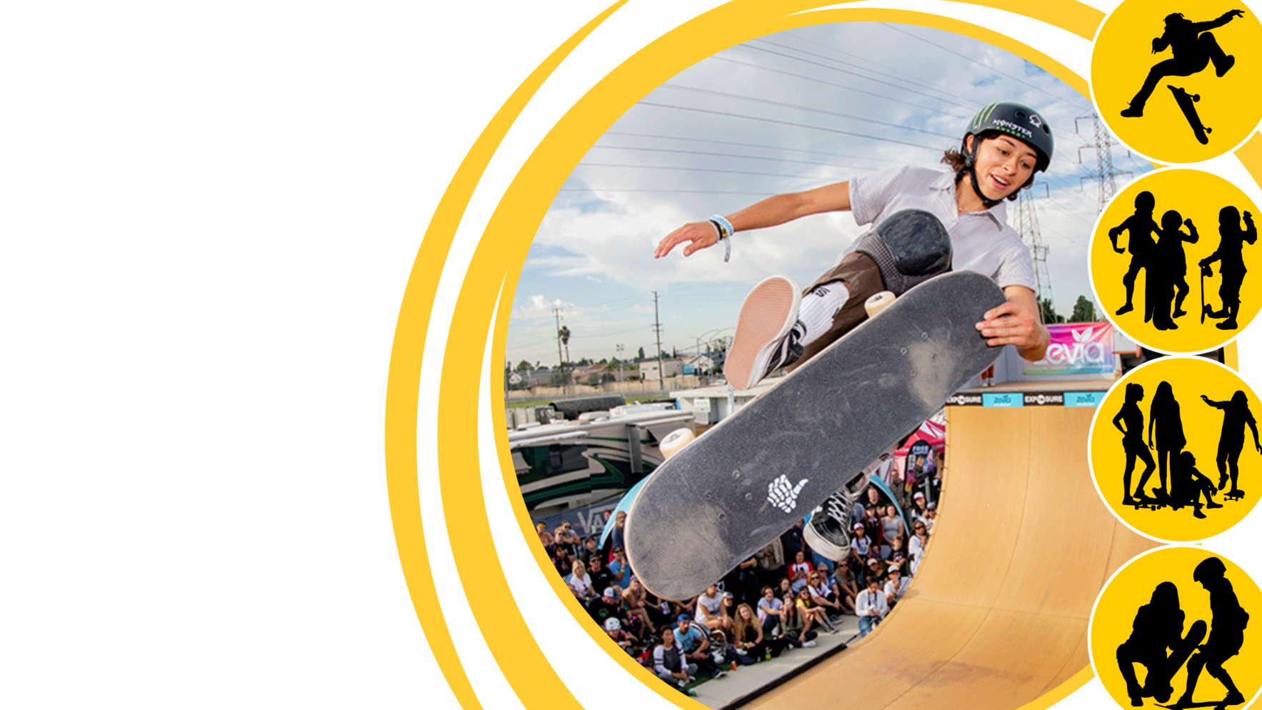 Give today to empower women and girls through skateboarding image