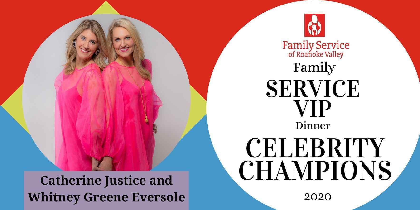 Join Catherine Justice and Whitney Greene Eversole  in helping Family Service restore health and hope for individuals in the Roanoke Valley! image