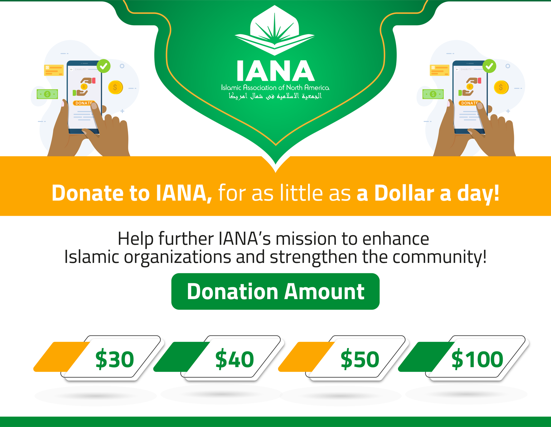 Donate to IANA, for as little as a dollar a day! image