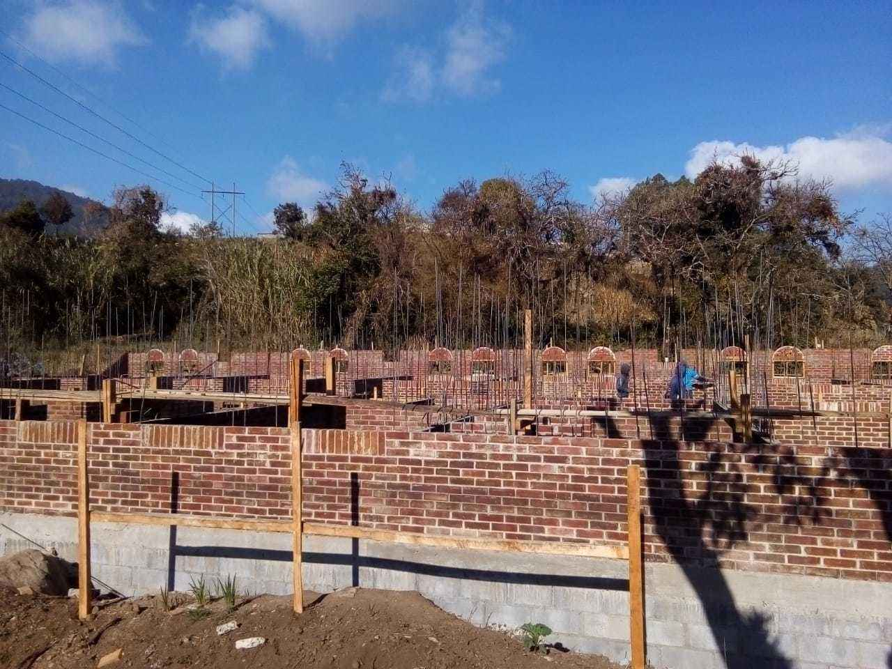 The foundation and walls are done! Can you help us put in the floor and the roof? image