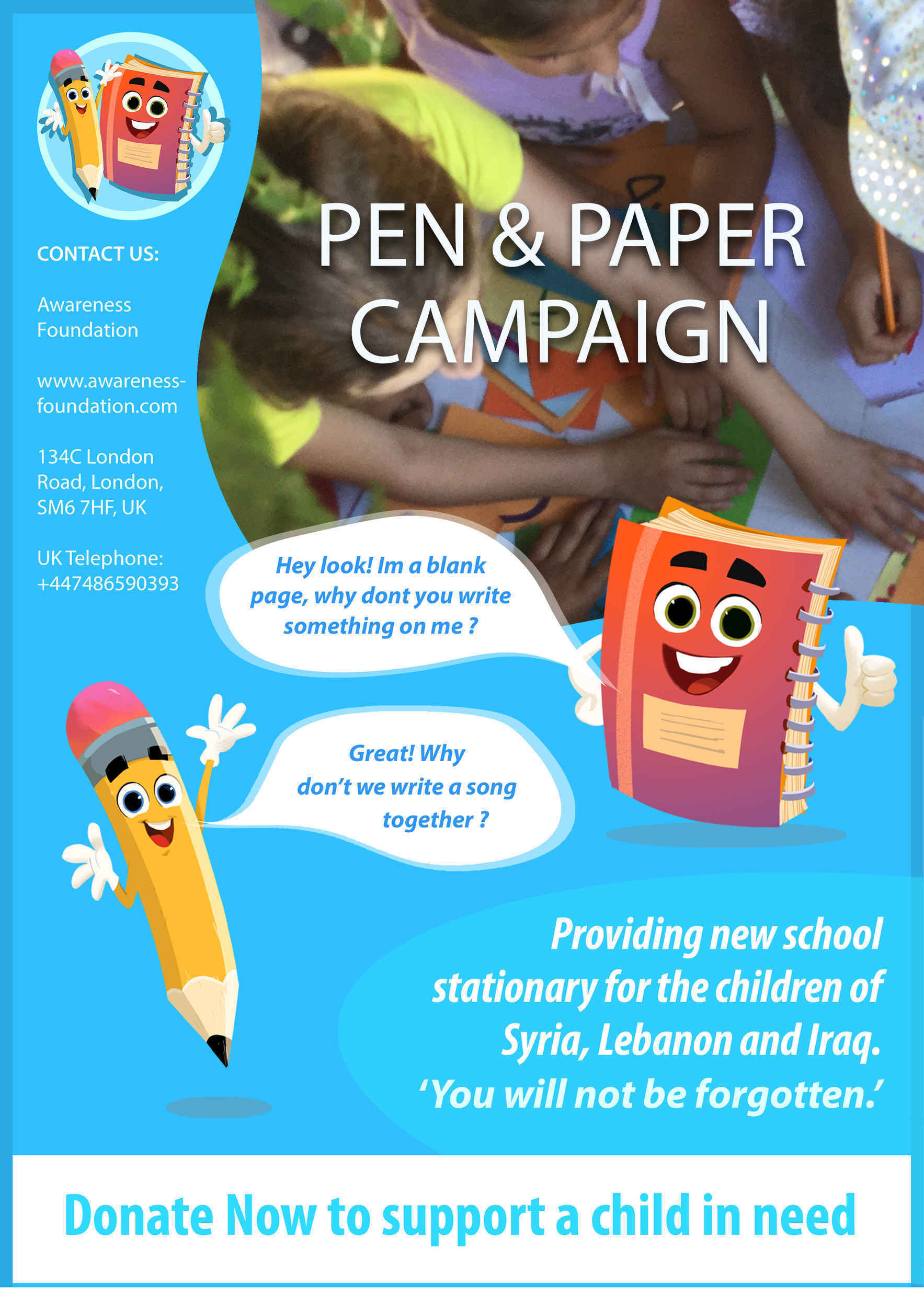 Help Children of Syria, Iraq and Lebanon in their education image