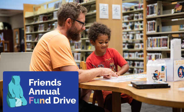 Donate today to make life enhancing library resources available for all! image